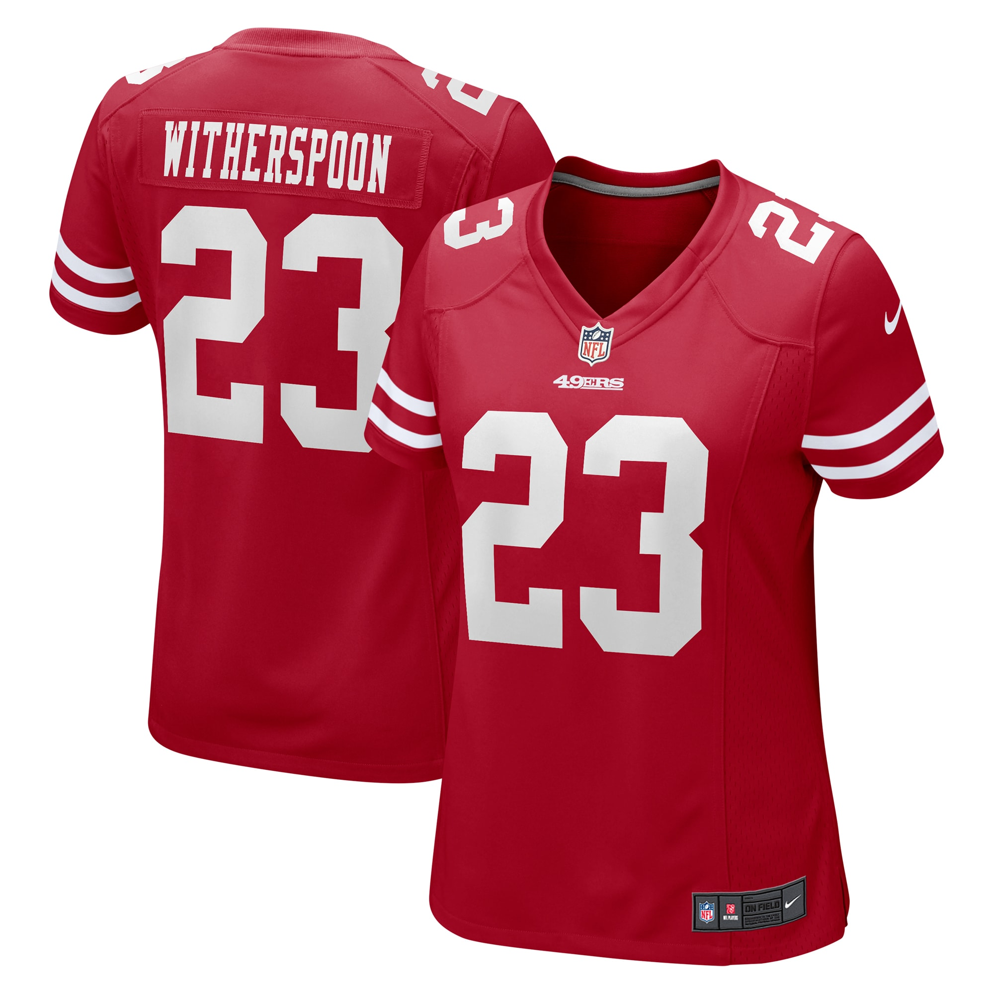 Ahkello Witherspoon San Francisco 49ers Nike Women's Game Jersey - Scarlet