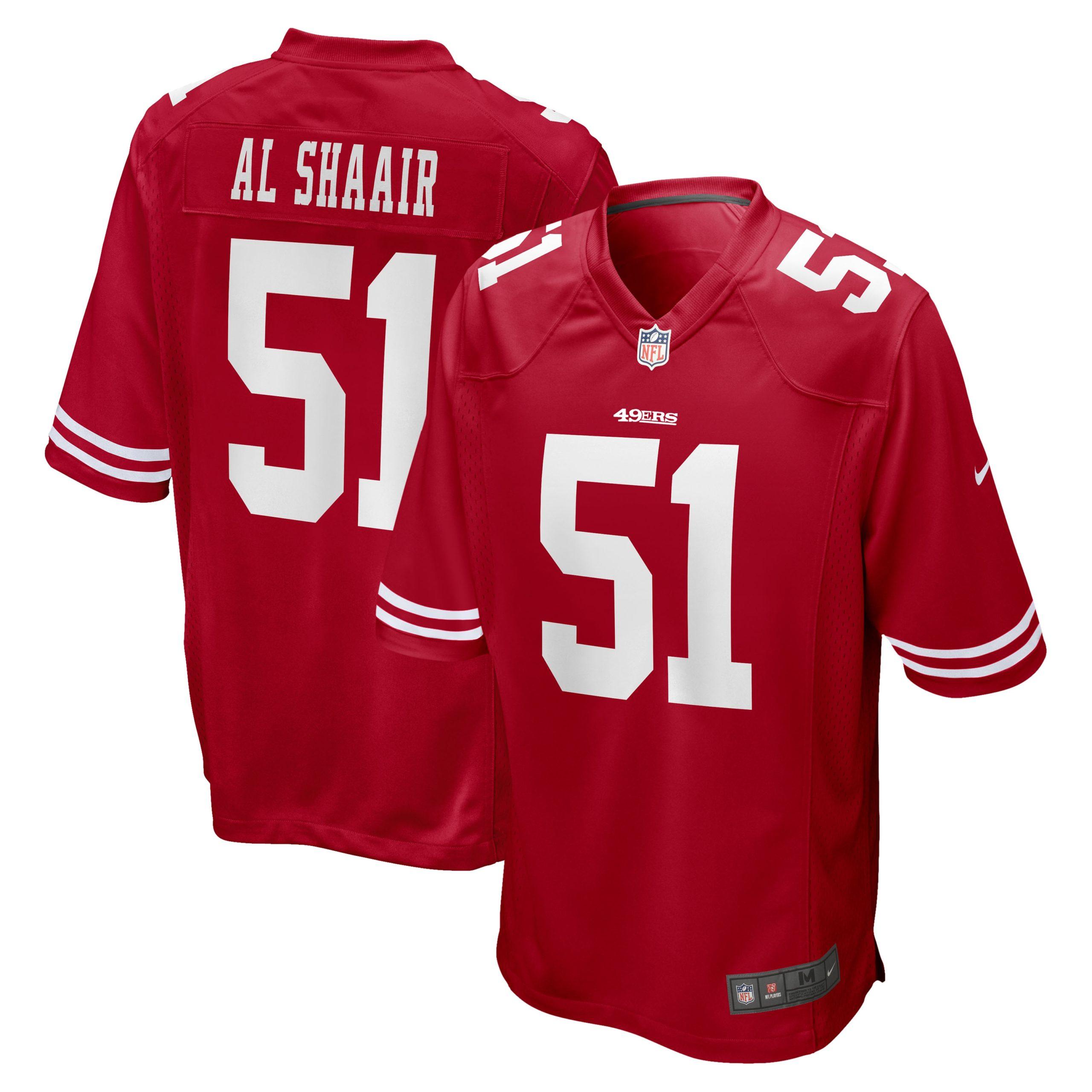 Azeez Al-Shaair San Francisco 49ers Nike Team Game Jersey - Scarlet