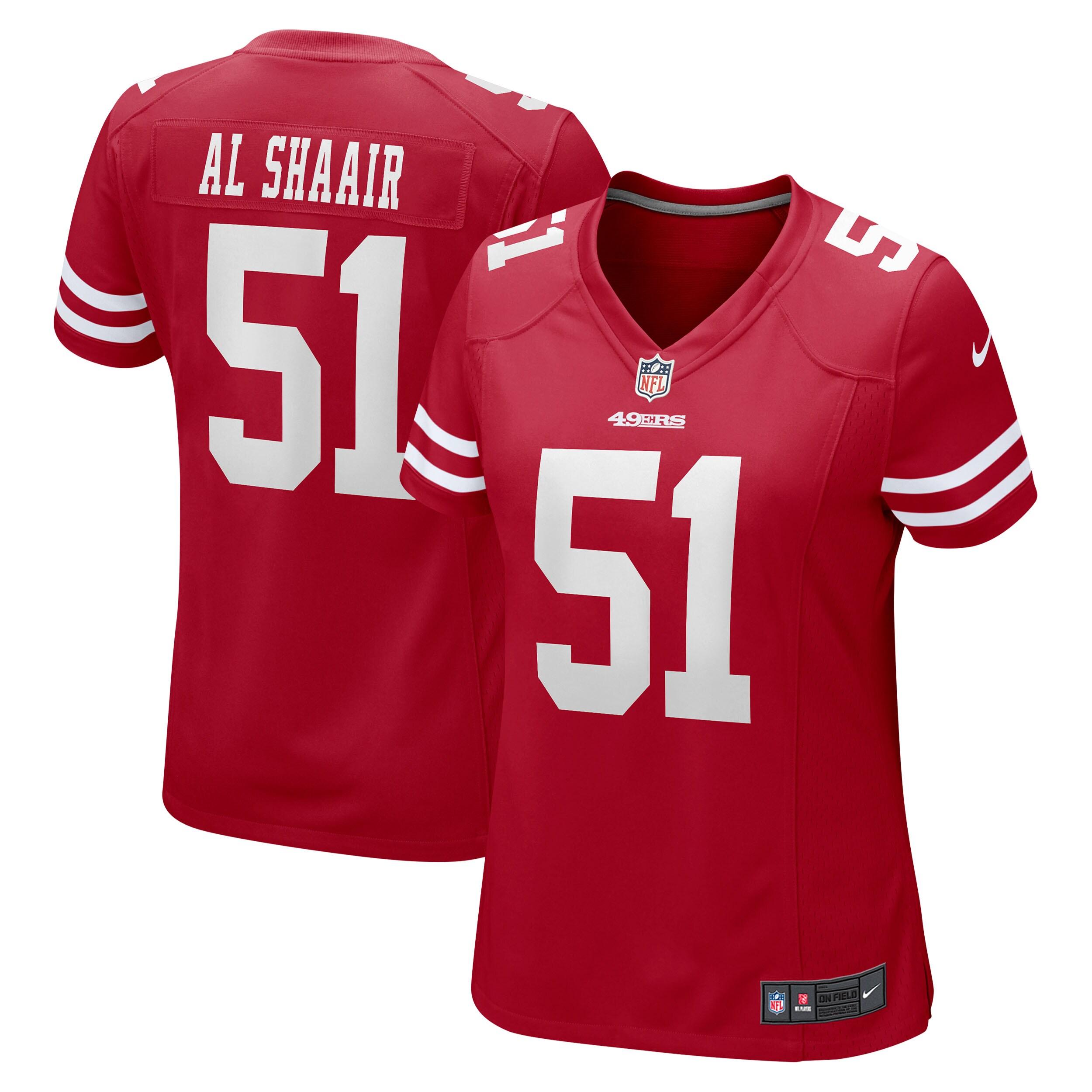 Azeez Al-Shaair San Francisco 49ers Nike Women's Team Game Jersey - Scarlet