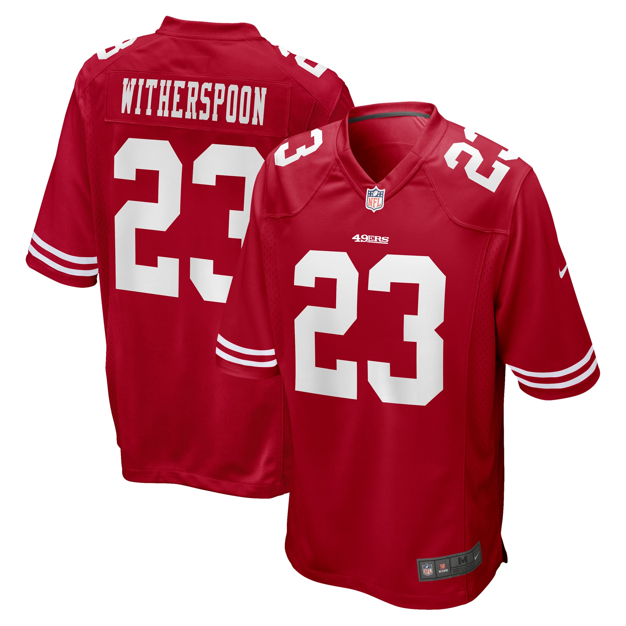 Ahkello Witherspoon San Francisco 49ers Nike Game Jersey - Scarlet