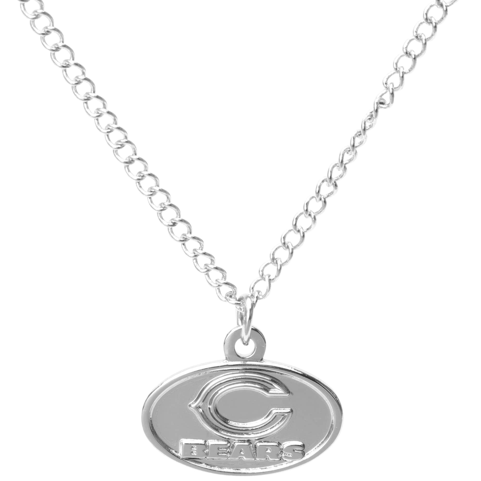 Chicago Bears WinCraft Women's Logo Necklace - Silver
