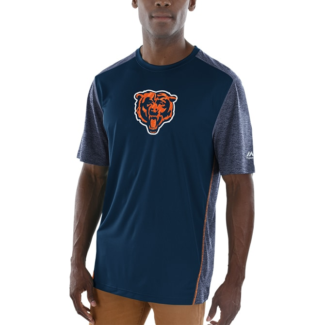 Chicago Bears Majestic Unmatched Cool Base T-Shirt - Navy