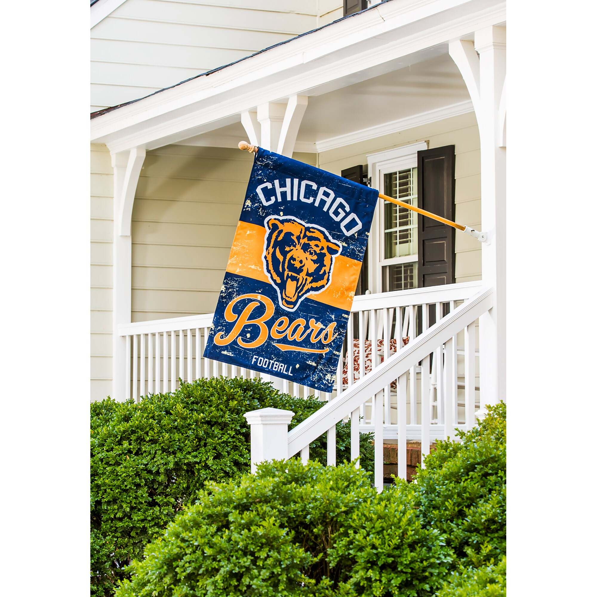 """Chicago Bears 28"""" x 44"""" Double-Sided Vintage Vertical House Flag"""