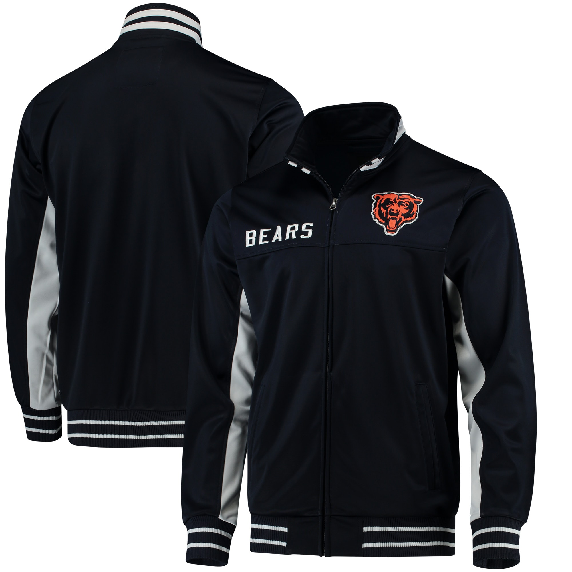 Chicago Bears G-III Sports by Carl Banks Big Shot Track Jacket - Navy