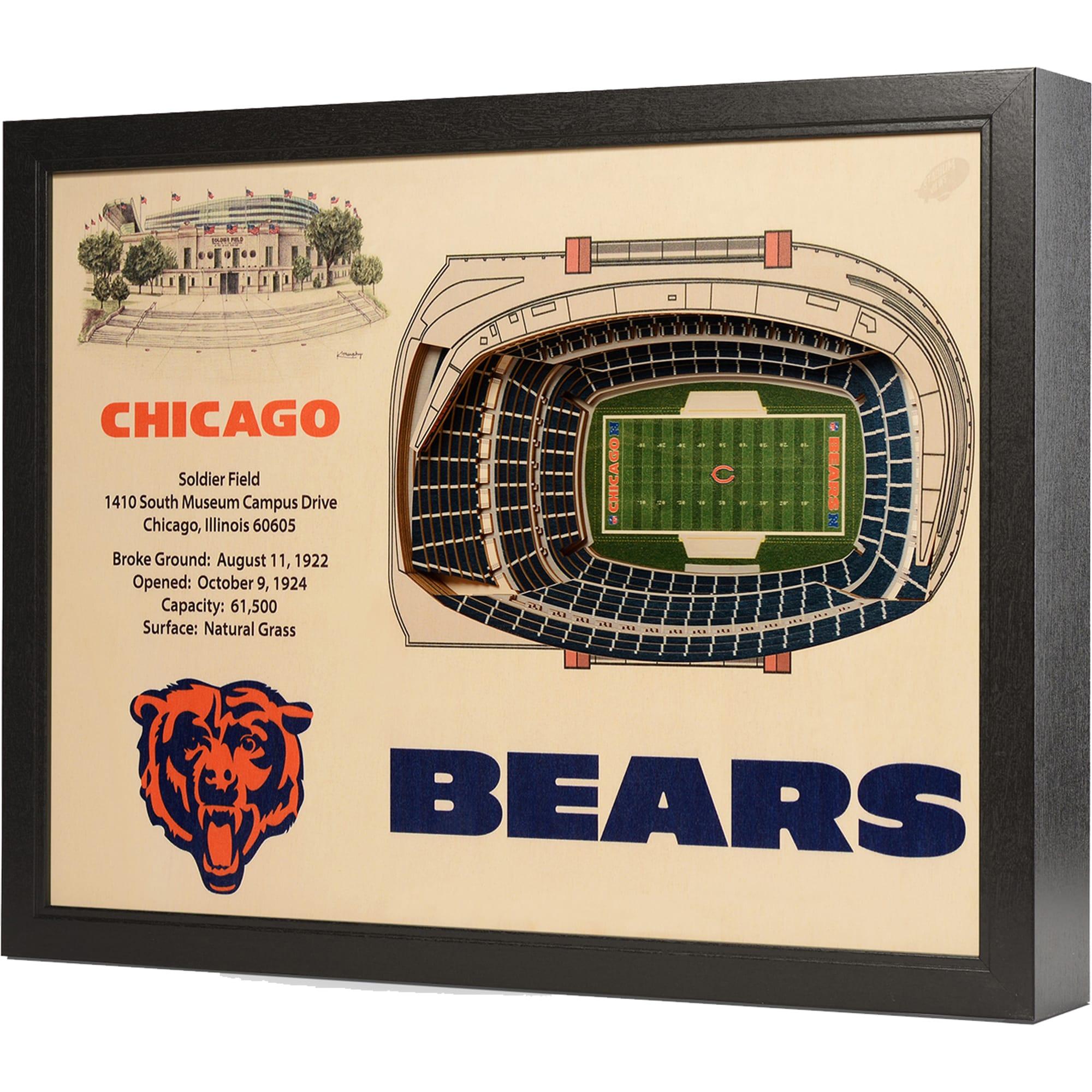 "Chicago Bears 25.5"" x 19.5"" Soldier Field Stadium Views Wall Art"