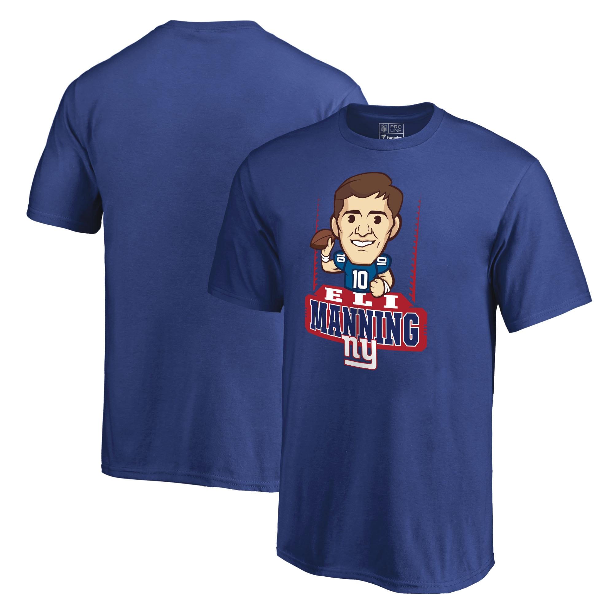 Eli Manning New York Giants NFL Pro Line Youth Emoji Player T-Shirt - Royal