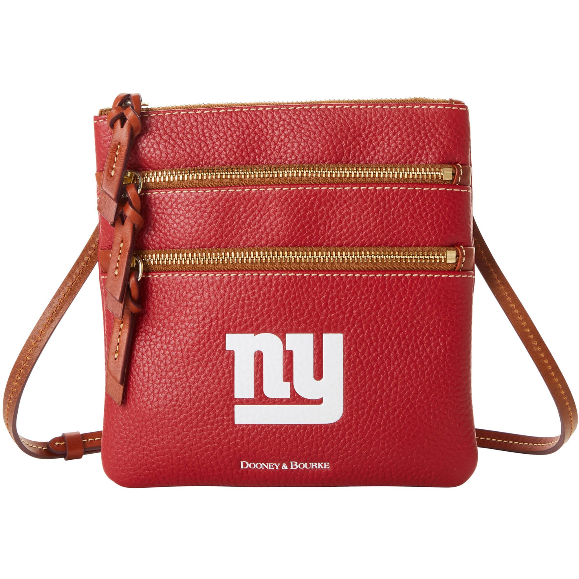 New York Giants Dooney & Bourke Women's Pebble Triple-Zip Core Crossbody Purse