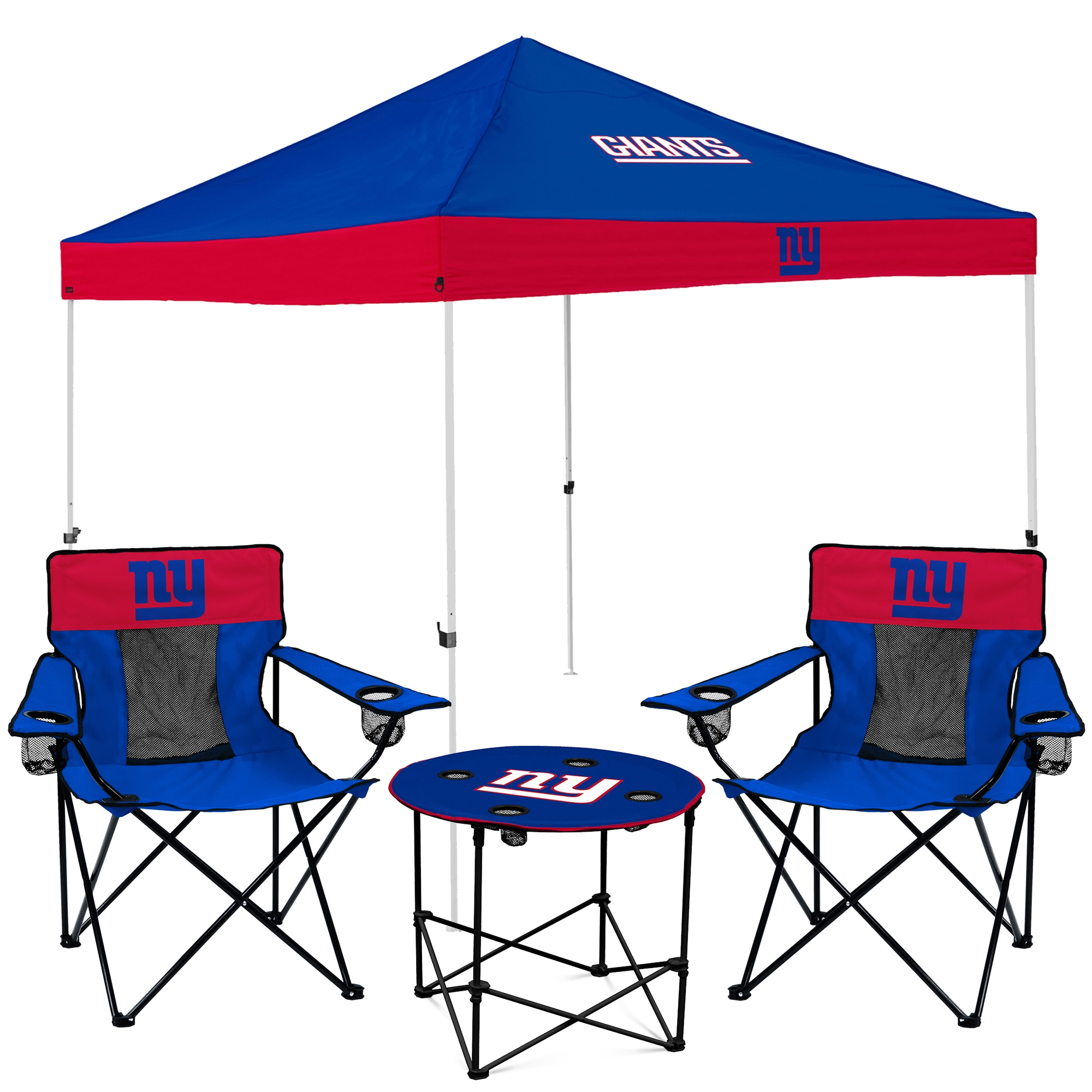 New York Giants Tailgate Canopy Tent, Table, & Chairs Set