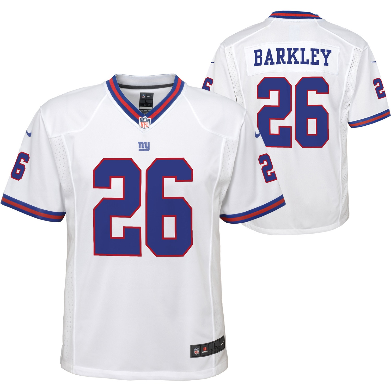 Saquon Barkley New York Giants Nike Youth Color Rush Player Game Jersey - White