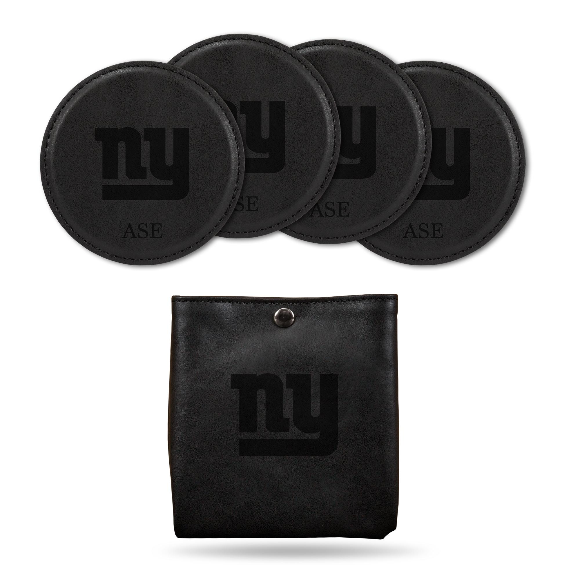 New York Giants Sparo 4-Pack Personalized Coaster Set - Black