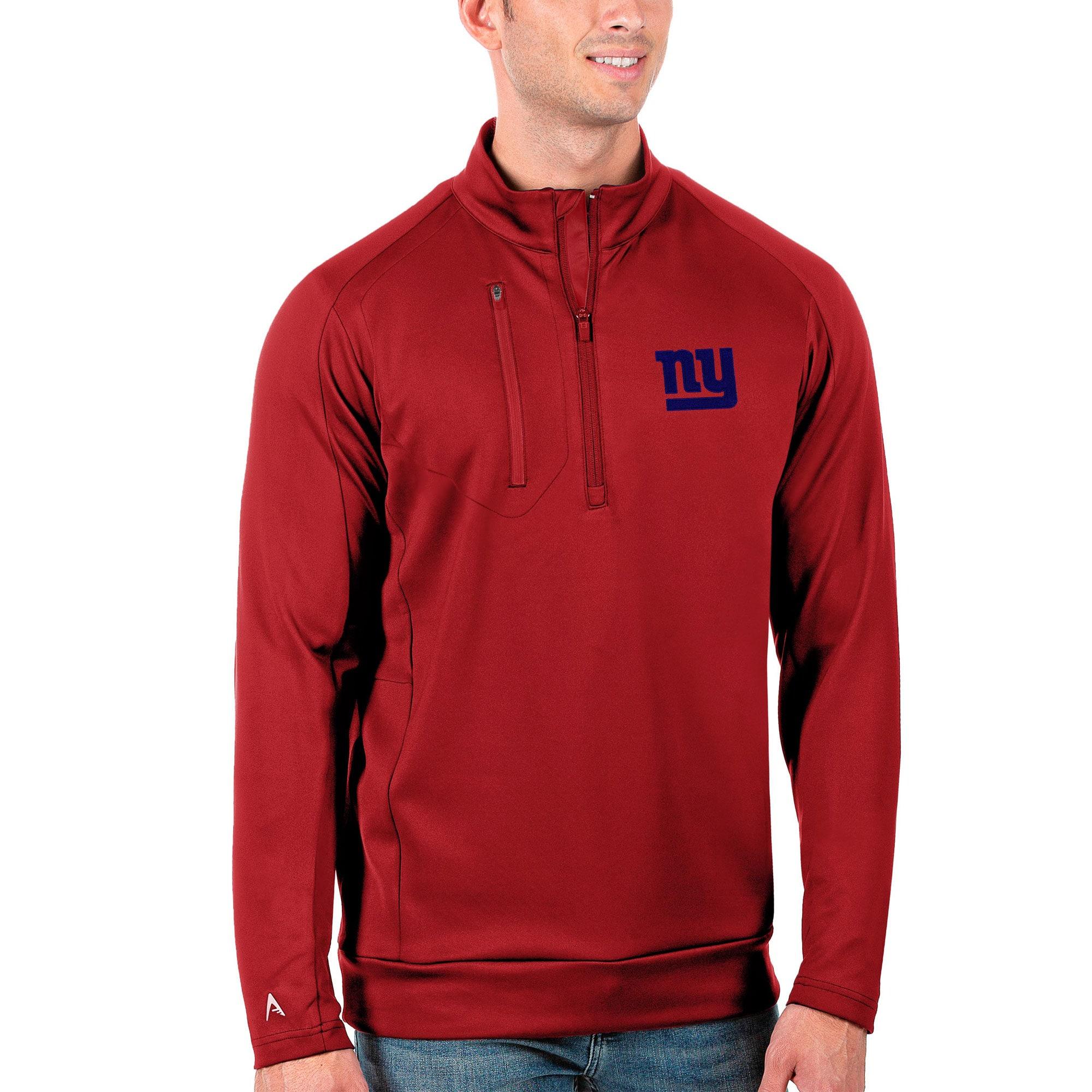 New York Giants Antigua Generation Quarter-Zip Pullover Jacket - Red