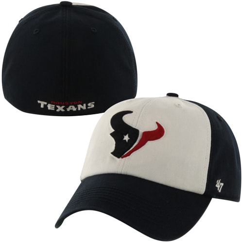 Houston Texans '47 Brand Classic Freshman Franchise Fitted Hat - Navy Blue/White