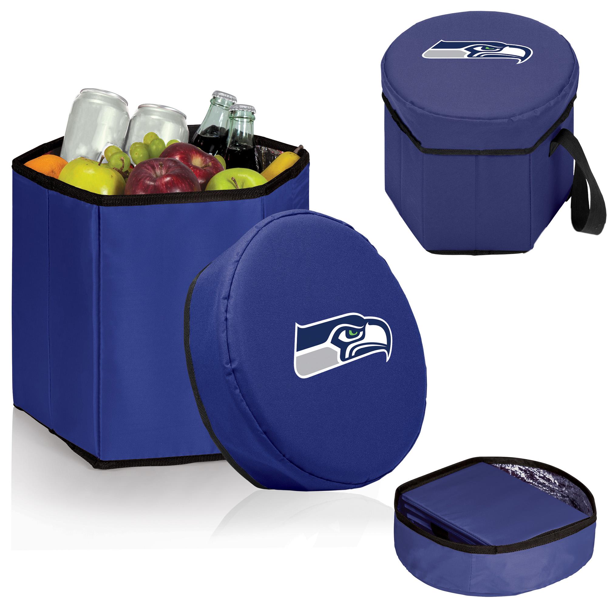 Seattle Seahawks 12 Quart Bongo Cooler - Navy