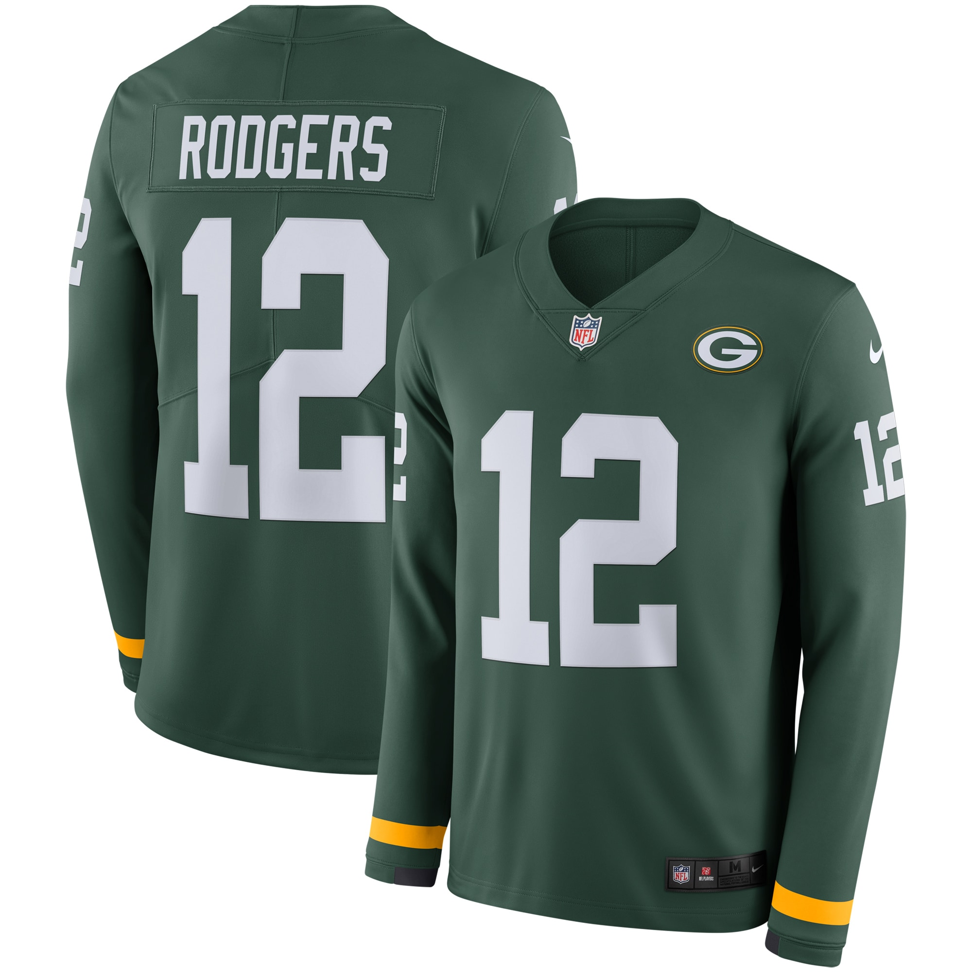 Aaron Rodgers Green Bay Packers Nike Therma Long Sleeve Player Jersey - Green