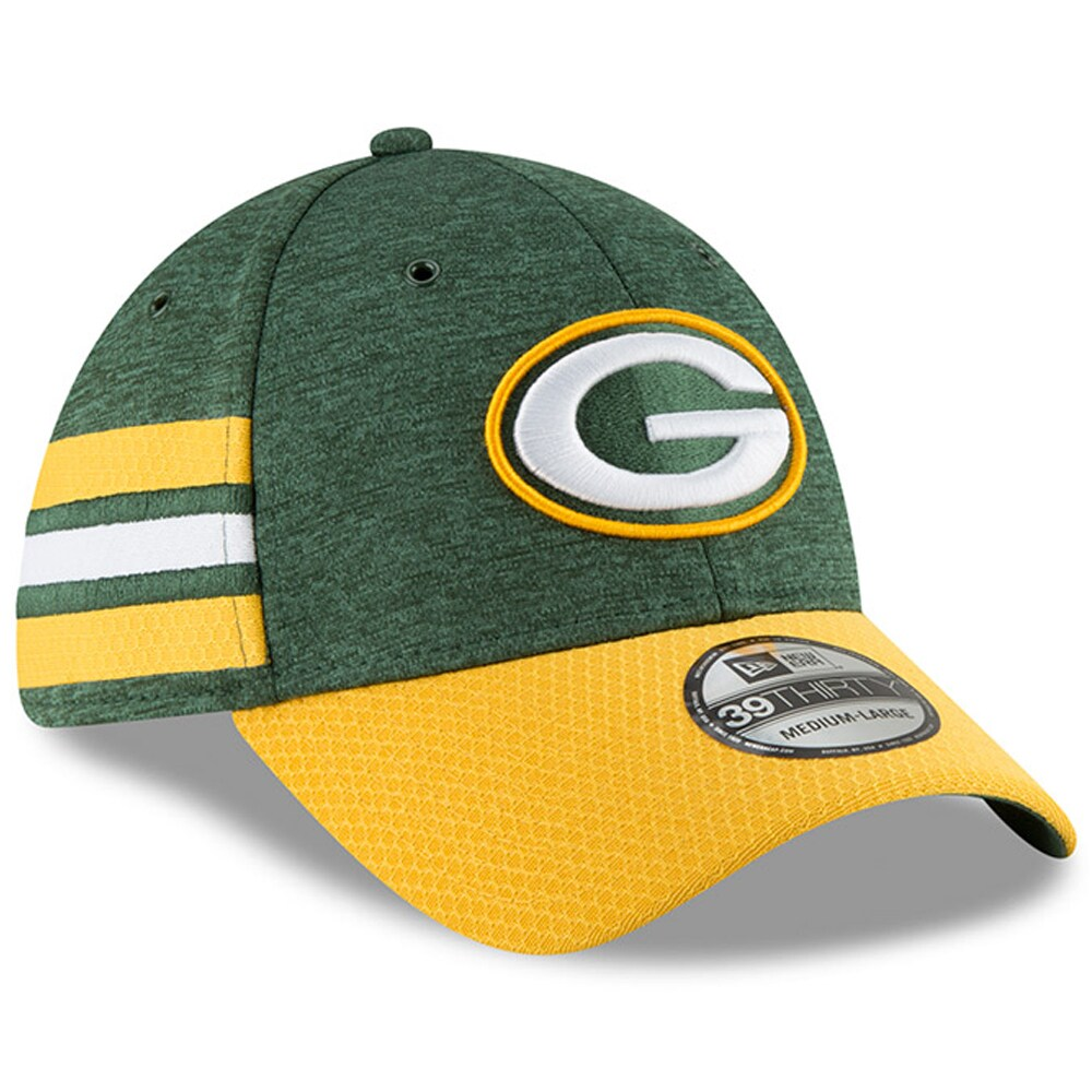 Green Bay Packers New Era 2018 NFL Sideline Home Official 39THIRTY Flex Hat - Green/Gold
