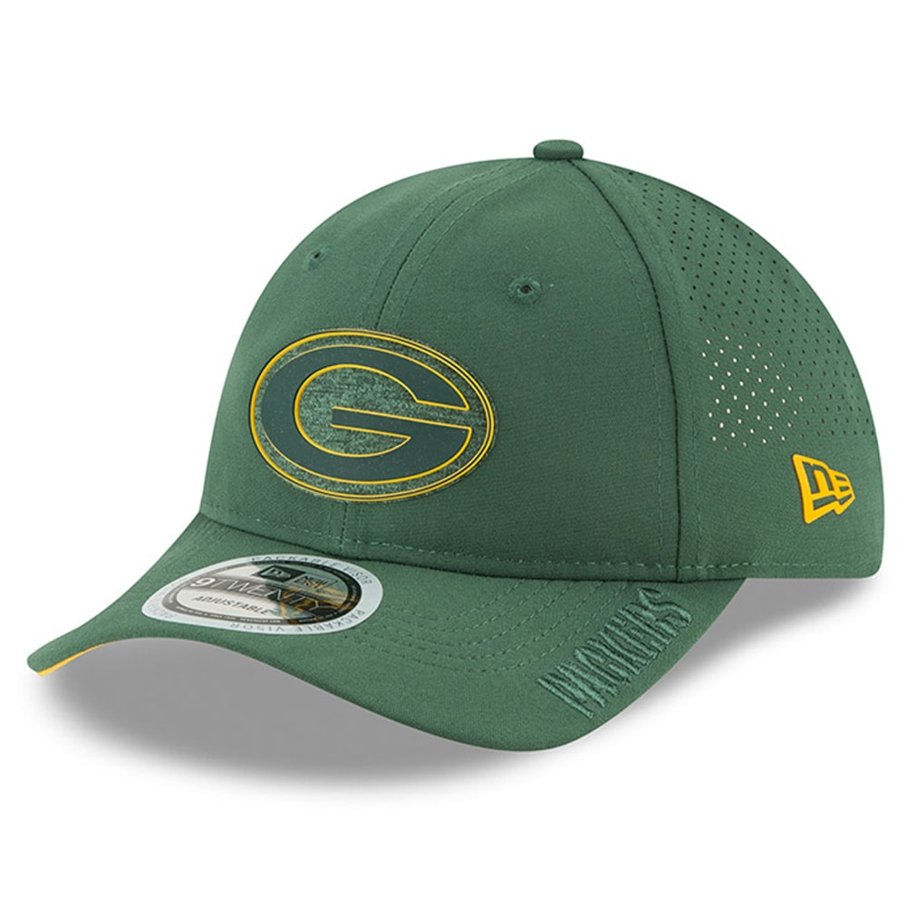 Green Bay Packers New Era 2018 Training Camp Primary 9TWENTY Adjustable Hat - Green