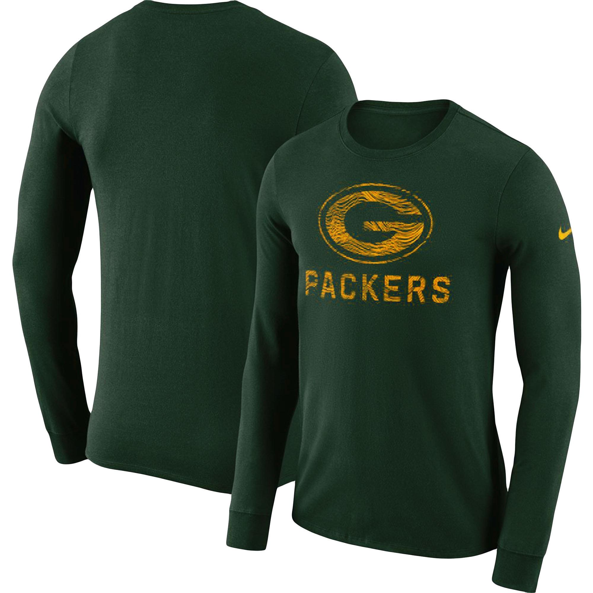 Green Bay Packers Nike Sideline Seismic Performance Long Sleeve T-Shirt - Green