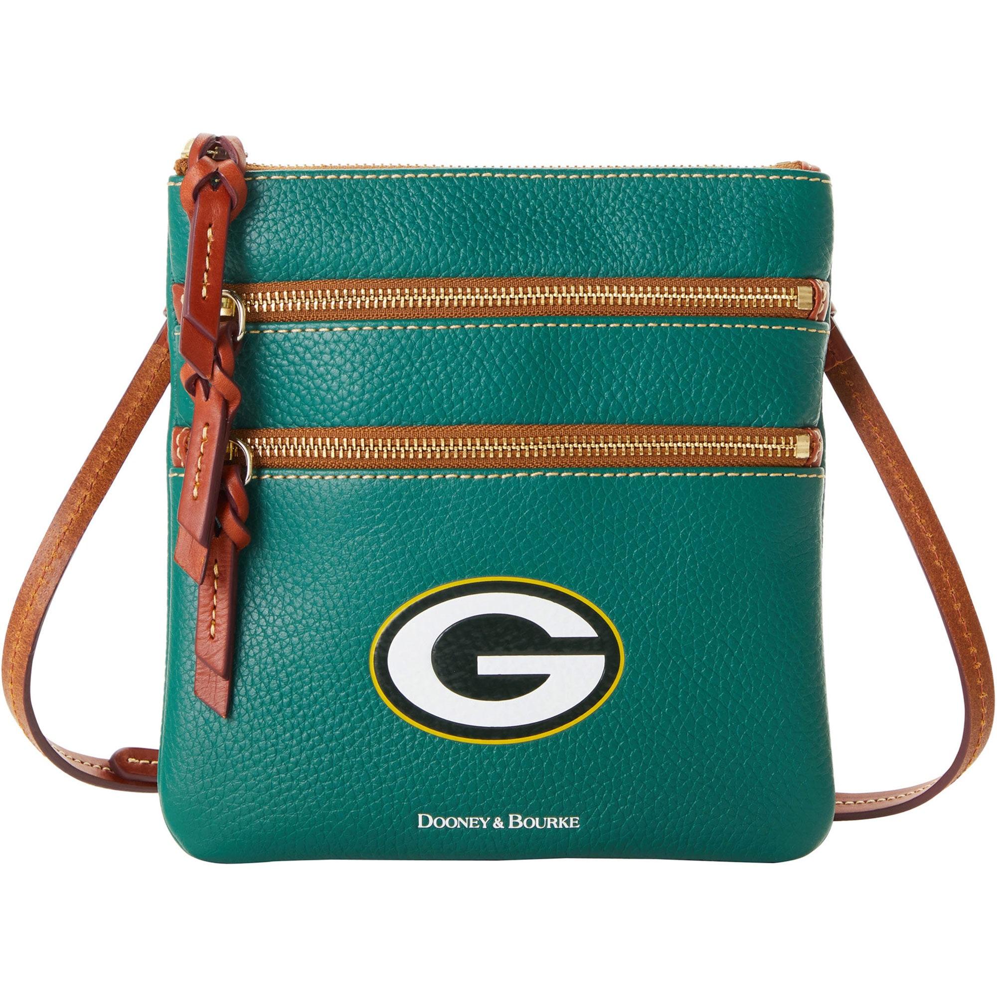 Green Bay Packers Dooney & Bourke Women's Pebble Triple-Zip Core Crossbody Purse