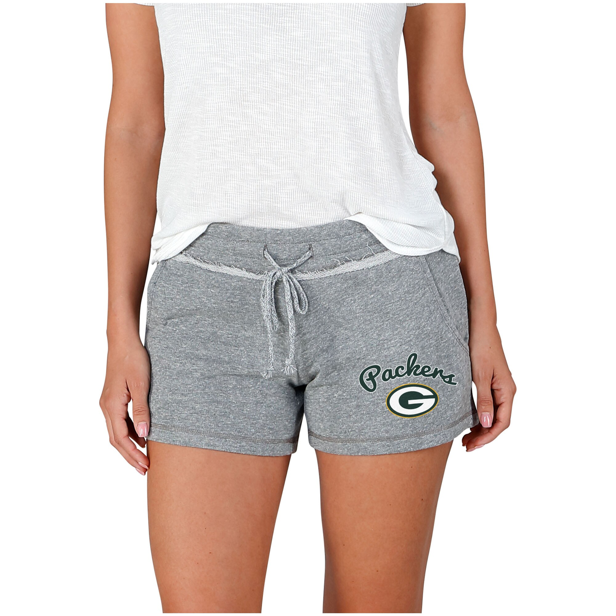 Green Bay Packers Concepts Sport Women's Mainstream Terry Shorts - Gray