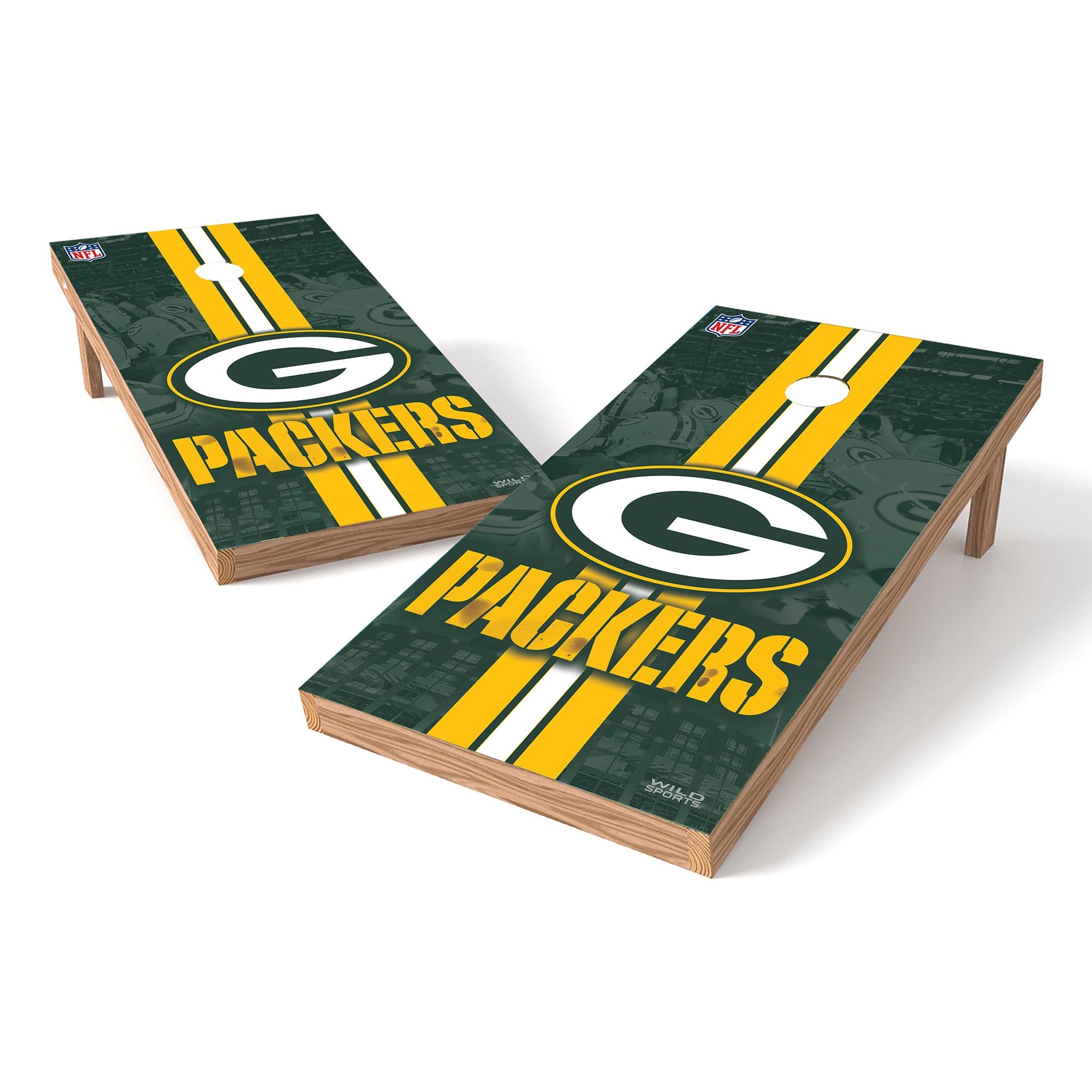 Green Bay Packers 2' x 4' Cornhole Board Tailgate Toss XL Set