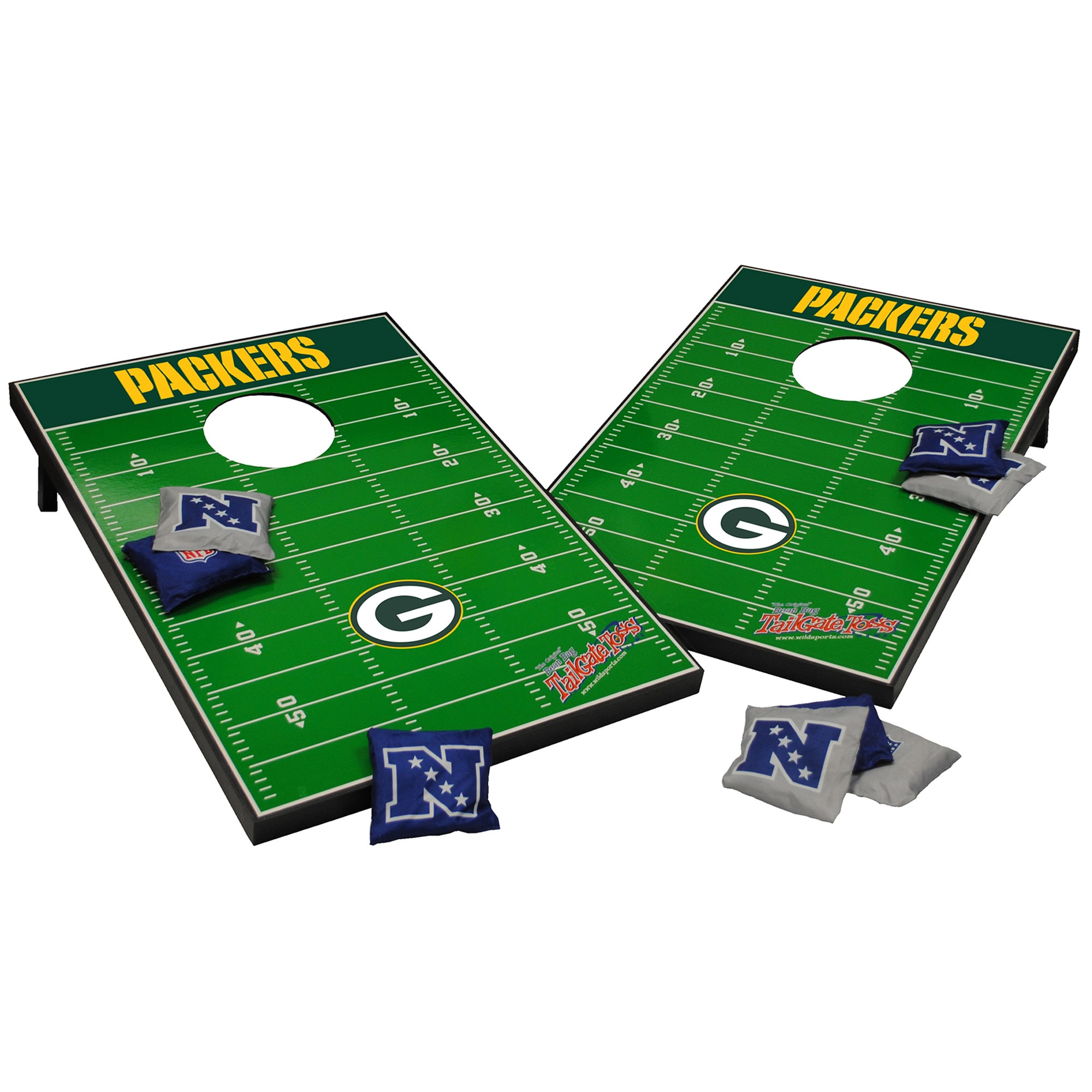 Green Bay Packers 2' x 3' Cornhole Board Tailgate Toss Set