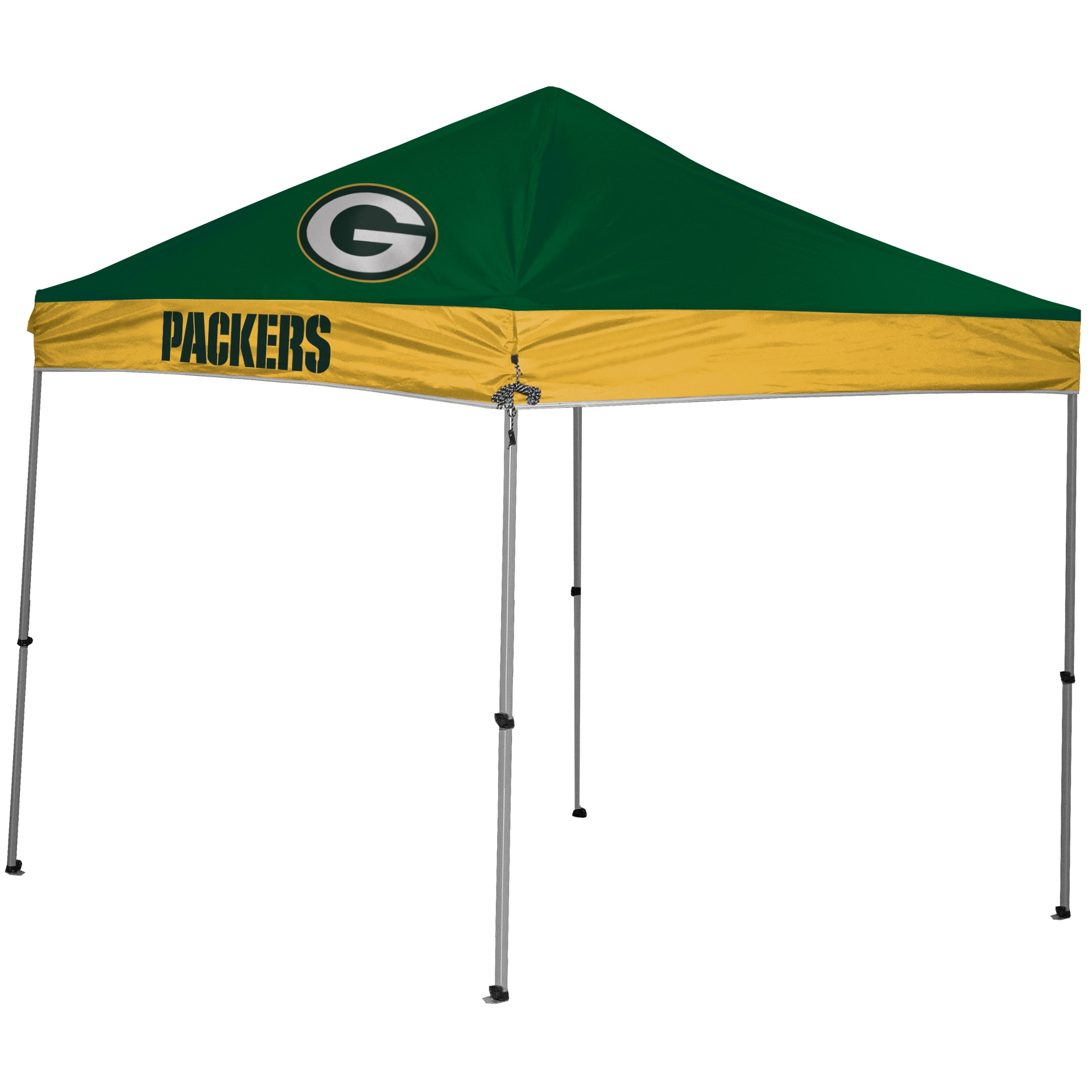 Green Bay Packers 9' x 9' 2-Tone Straight Leg Canopy Tent
