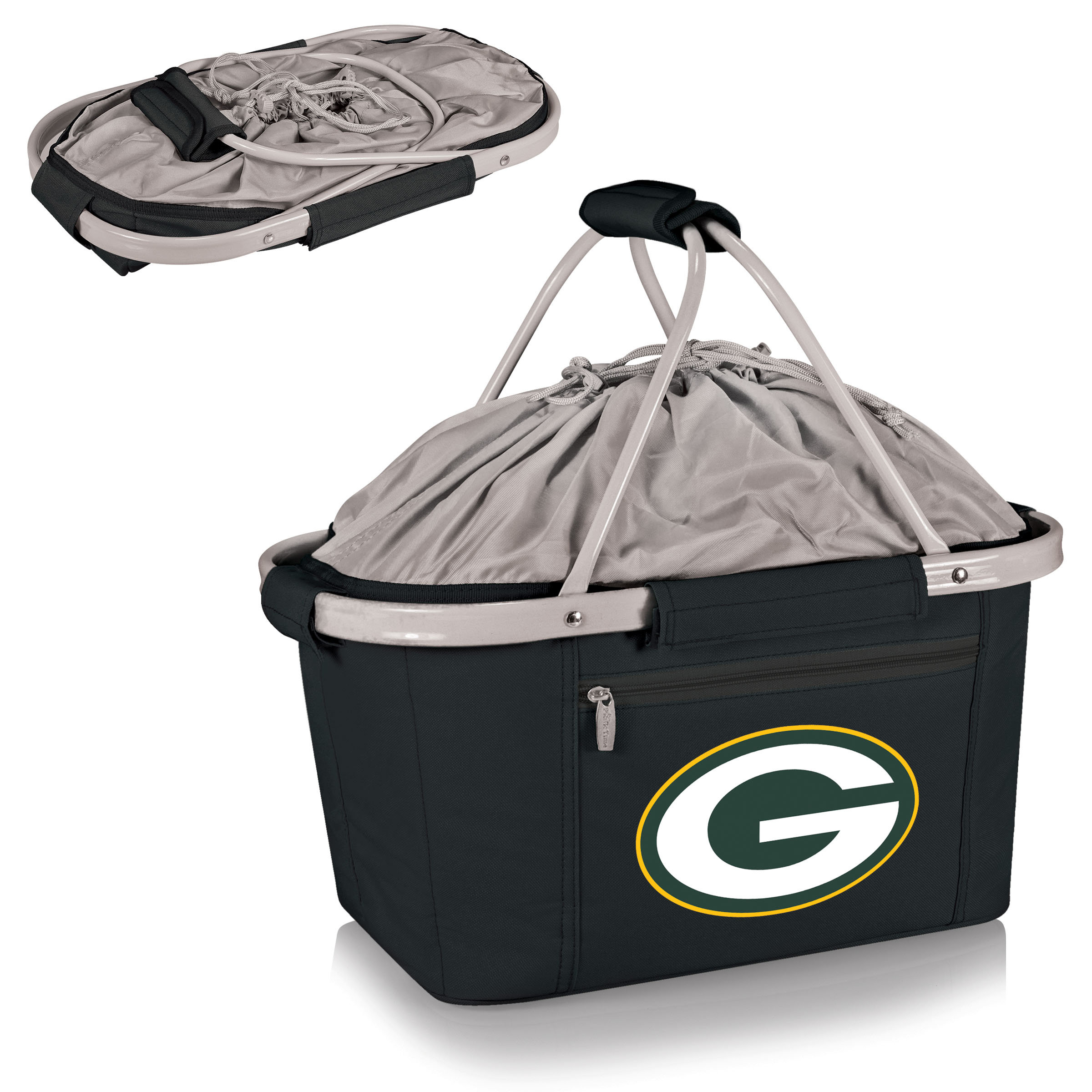 Green Bay Packers Metro Basket Collapsible Tote - Black