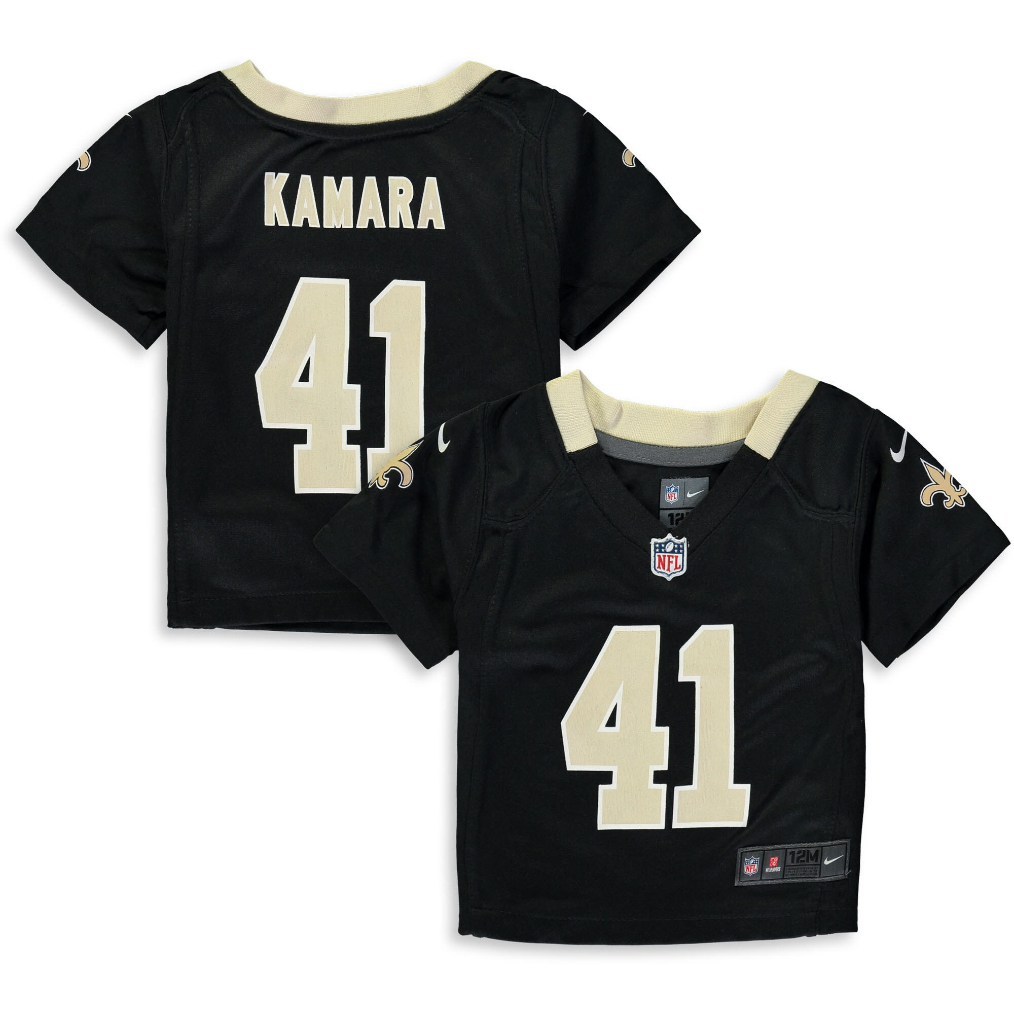 Alvin Kamara New Orleans Saints Nike Infant Player Game Jersey - Black