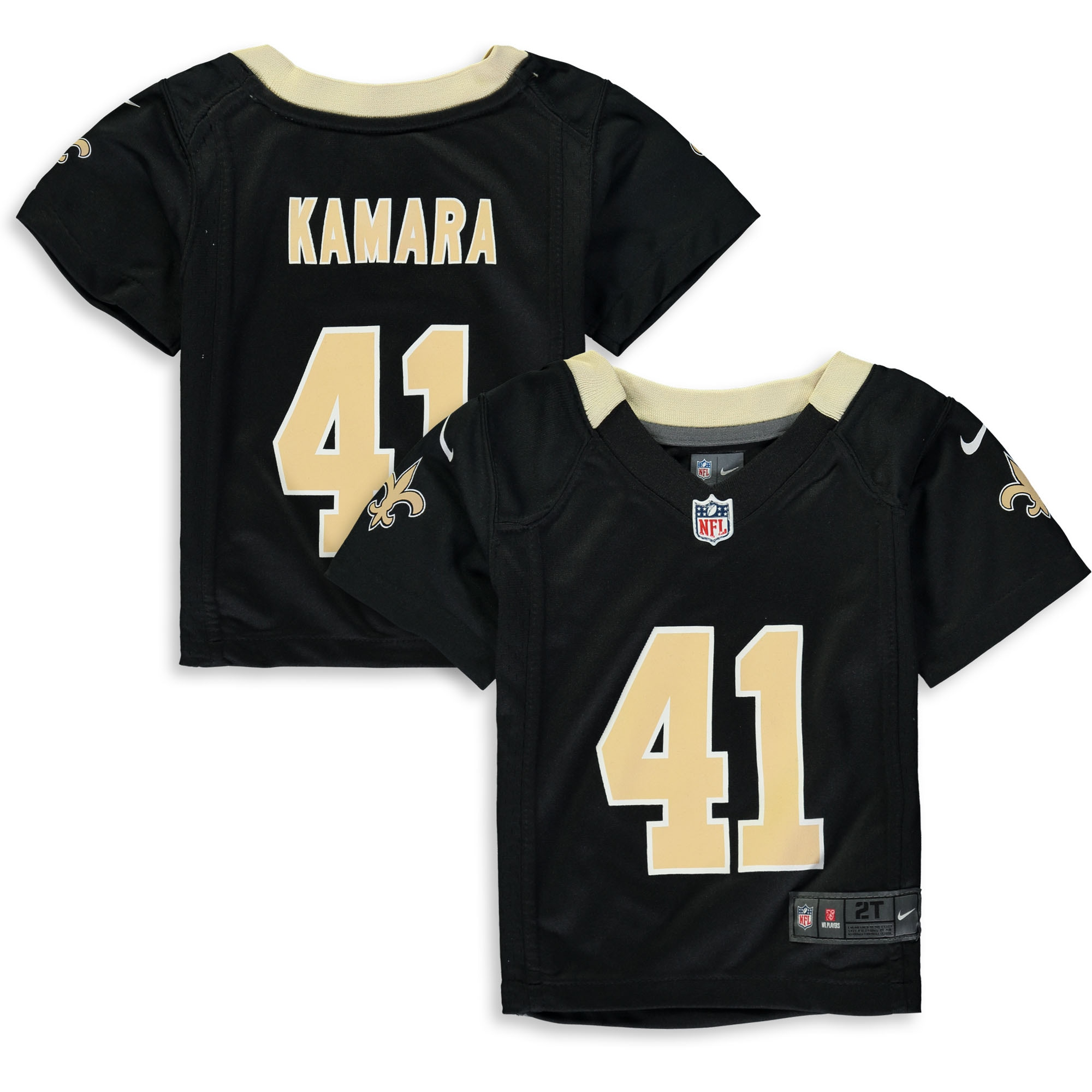Alvin Kamara New Orleans Saints Nike Toddler Player Game Jersey - Black