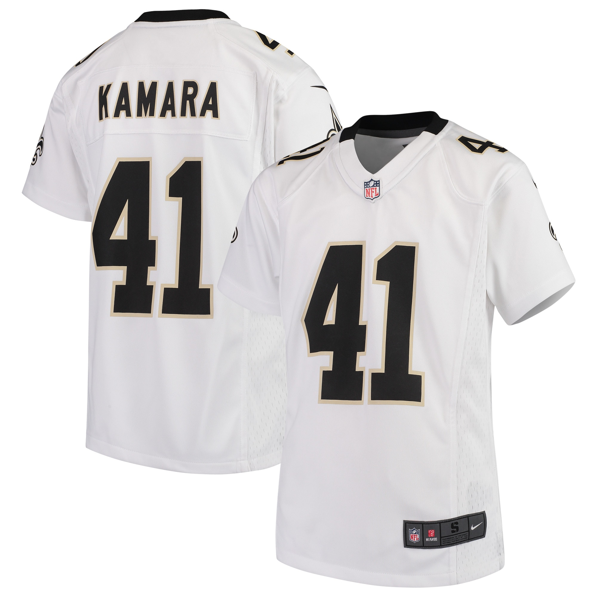 Alvin Kamara New Orleans Saints Nike Youth 2018 Game Jersey - White