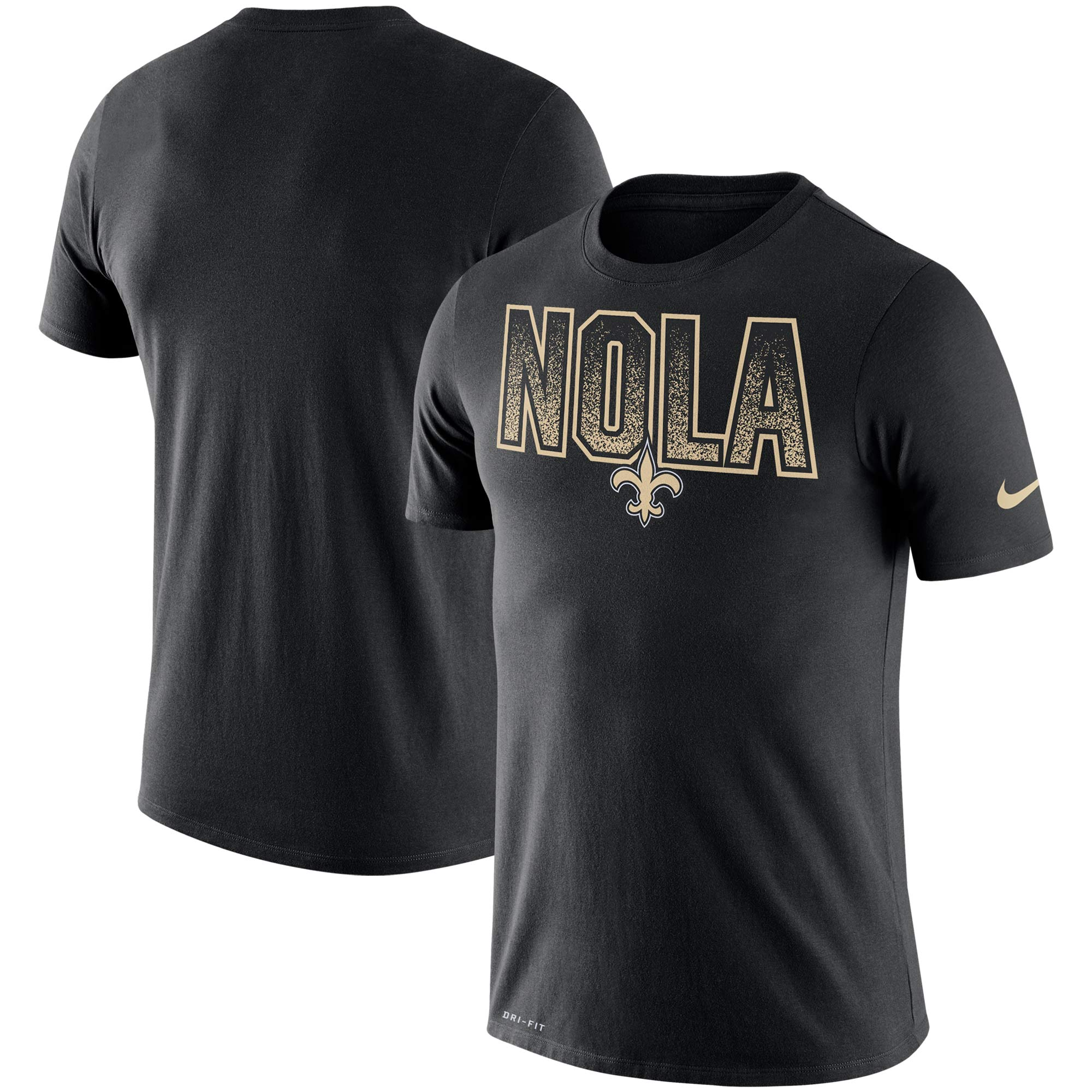 New Orleans Saints Nike Local Verbiage Performance T-Shirt - Black