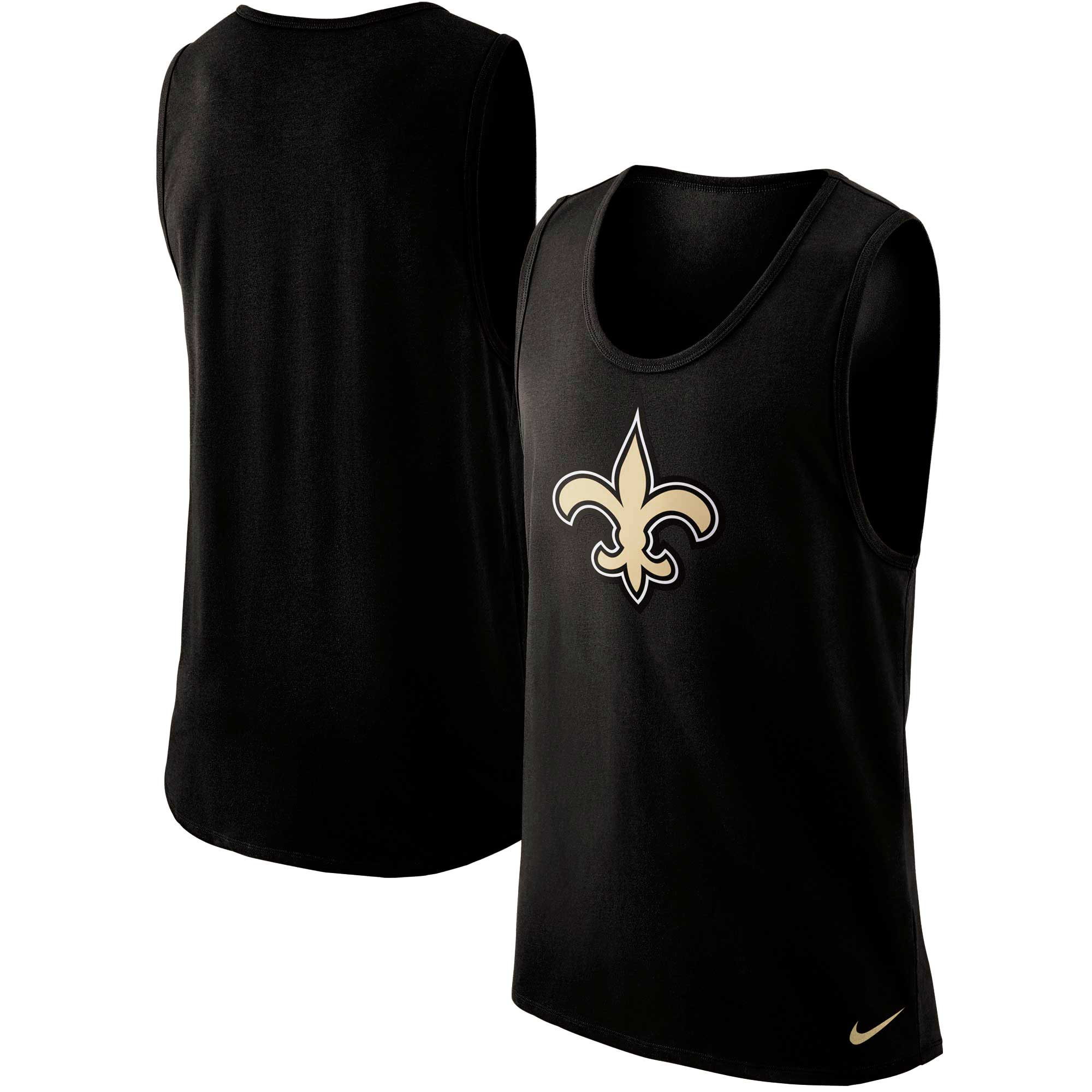 New Orleans Saints Nike Cotton Core Performance Tank Top - Black