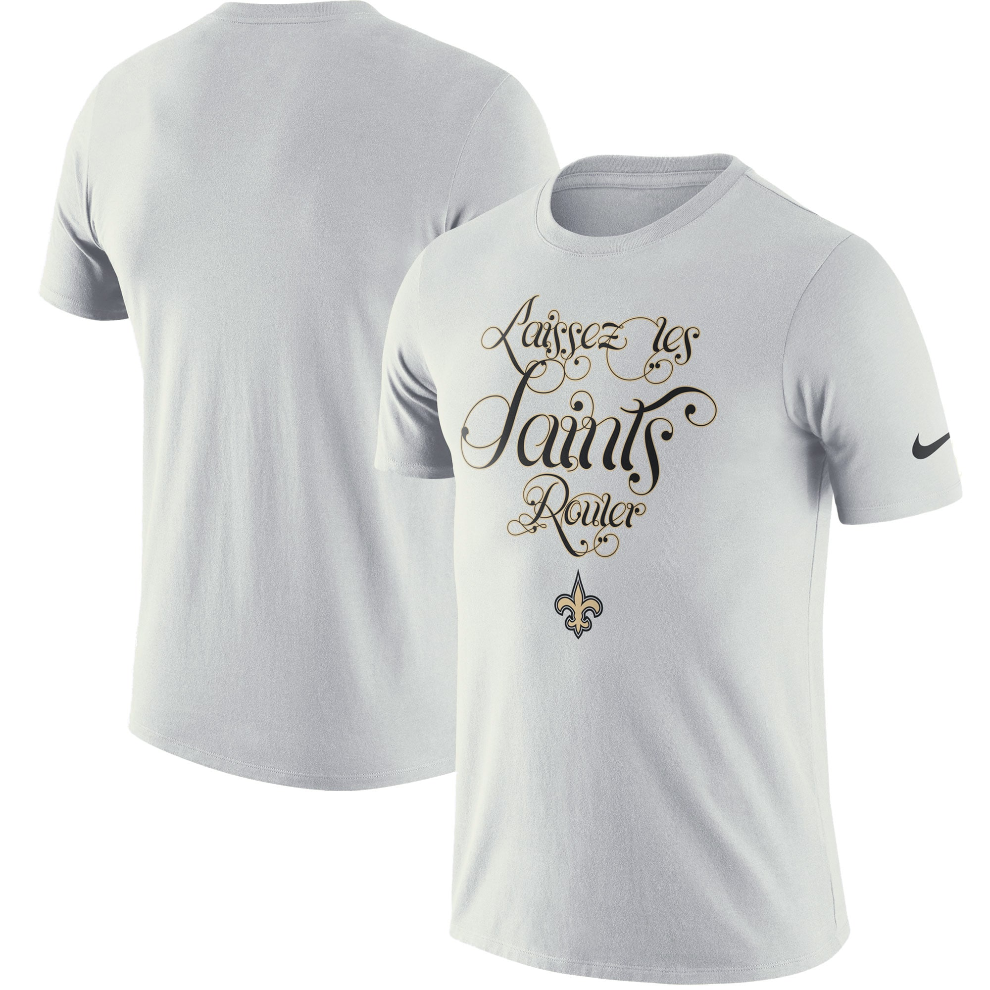 New Orleans Saints Nike Local Lockup Performance T-Shirt - White