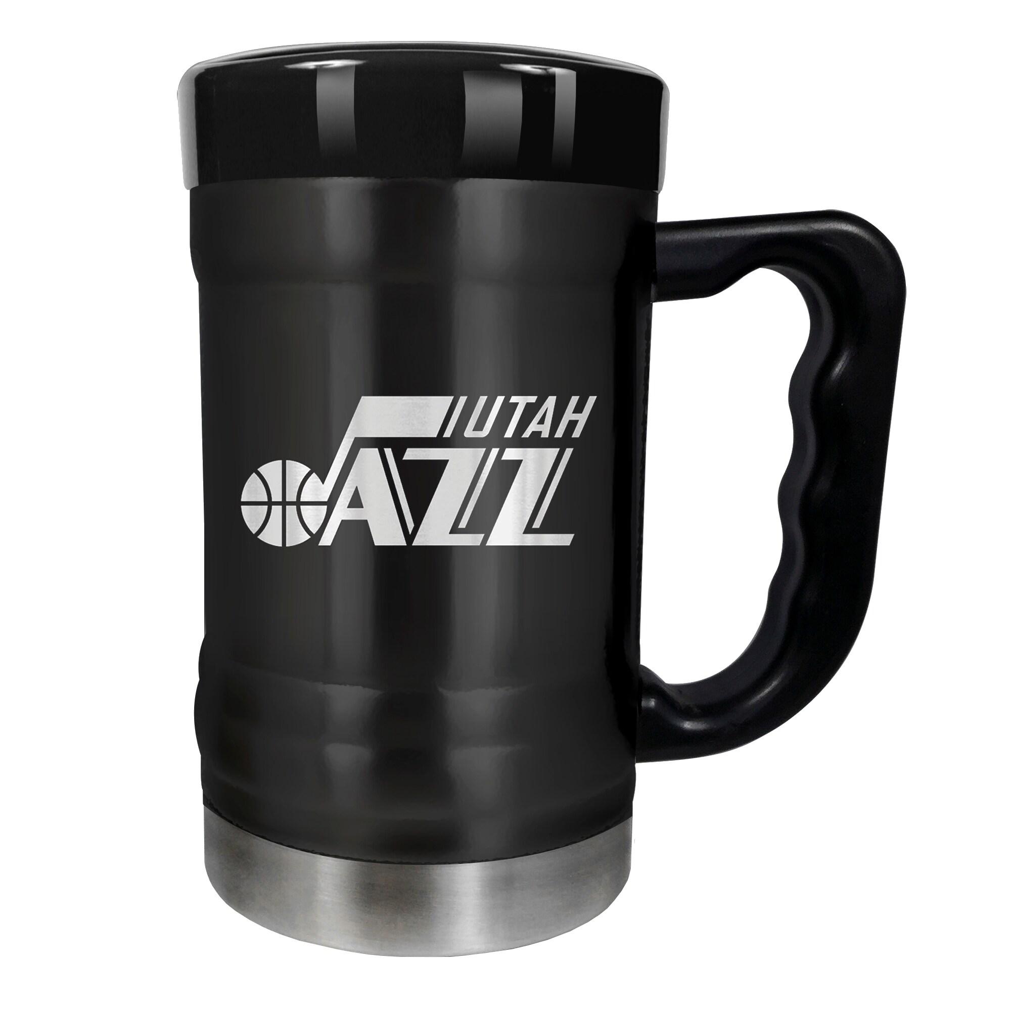 Utah Jazz 15oz. Stealth Coach Coffee Mug - Black