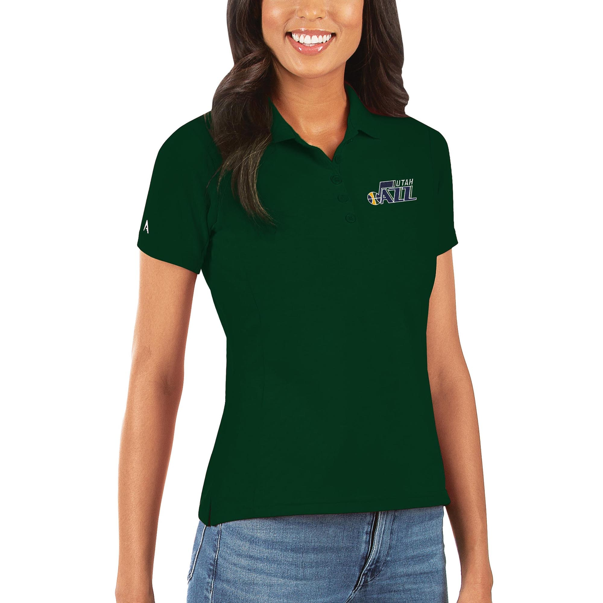 Utah Jazz Antigua Women's Legacy Pique Polo - Green
