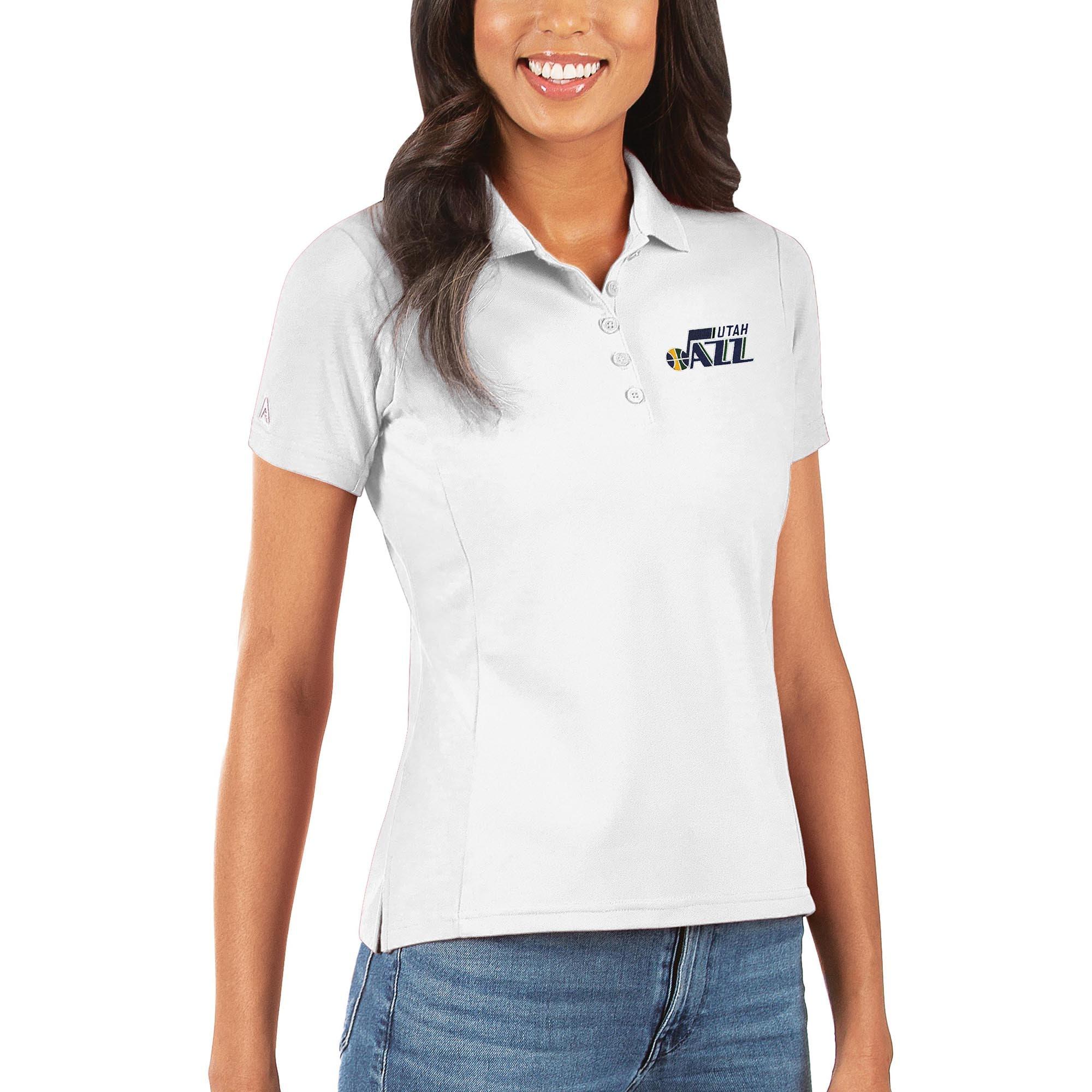 Utah Jazz Antigua Women's Legacy Pique Polo - White
