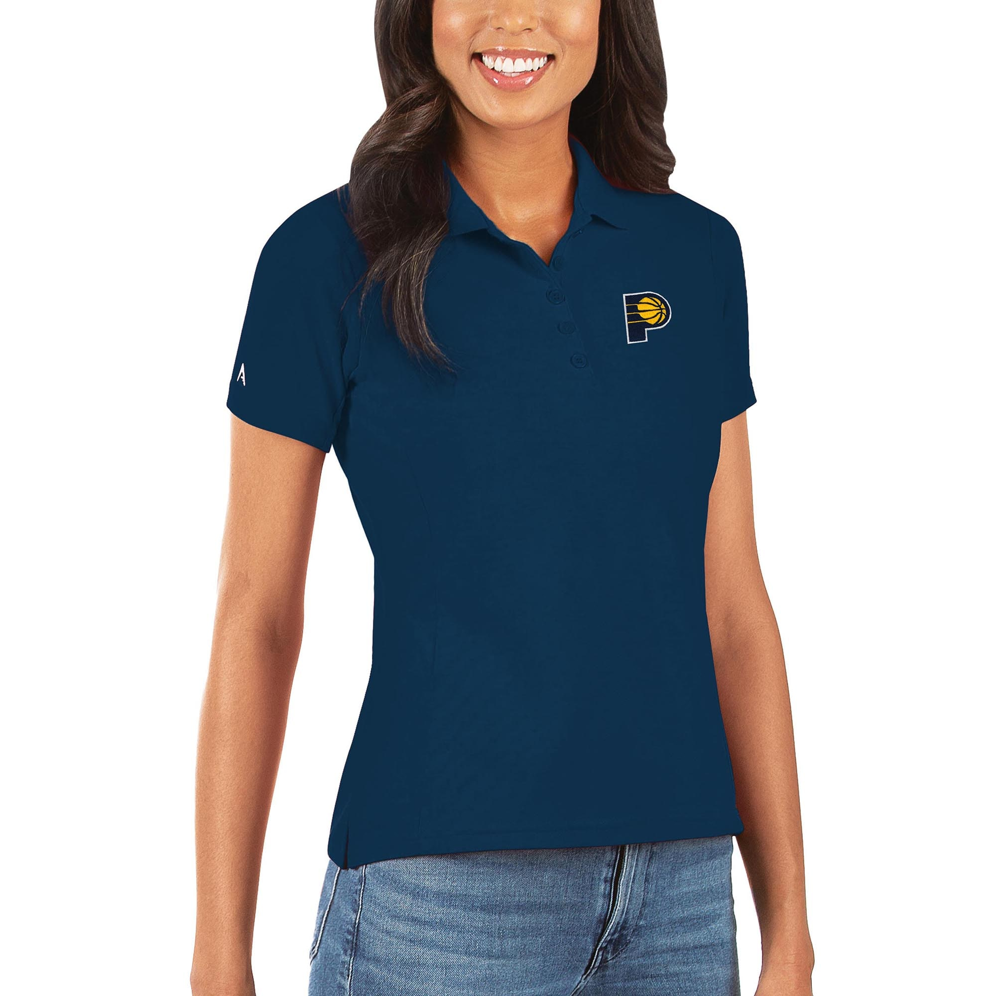 Indiana Pacers Antigua Women's Legacy Pique Polo - Navy