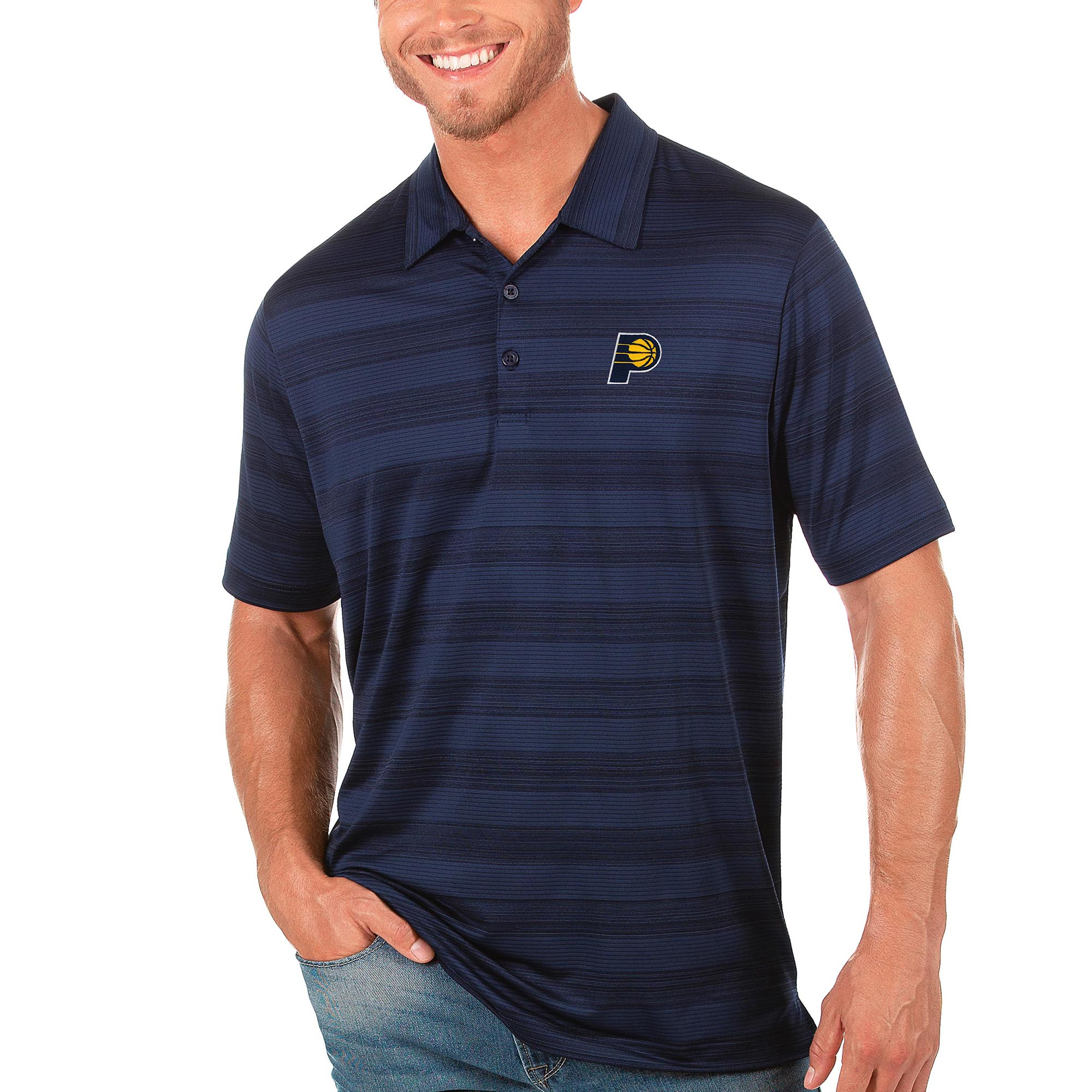 Indiana Pacers Antigua Compass Polo - Navy