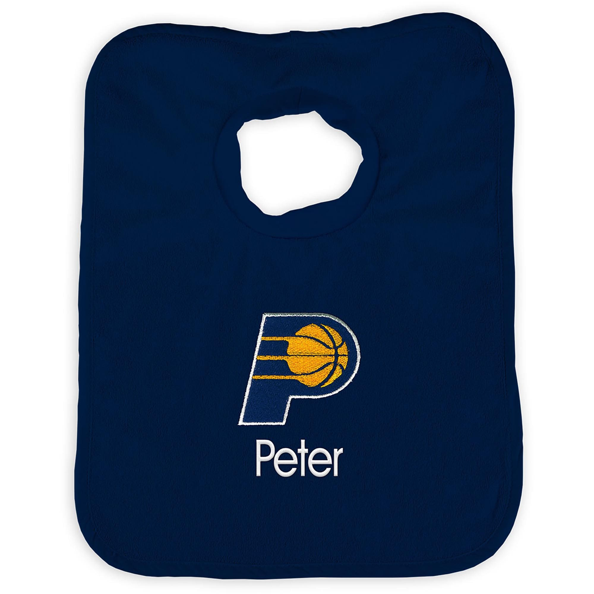 Indiana Pacers Infant Personalized Bib - Navy