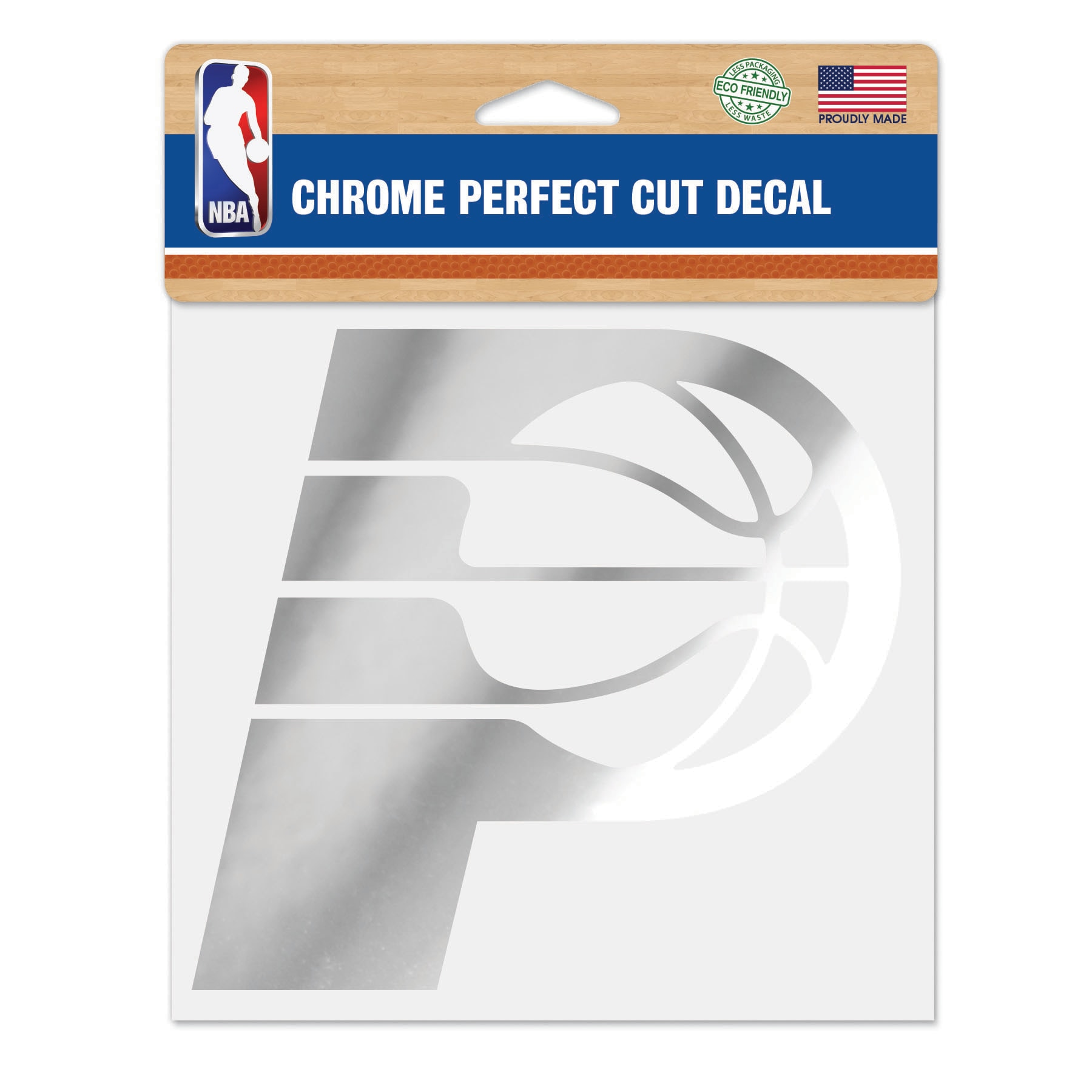 """Indiana Pacers WinCraft 6"""" x 6"""" Chrome Decal"""