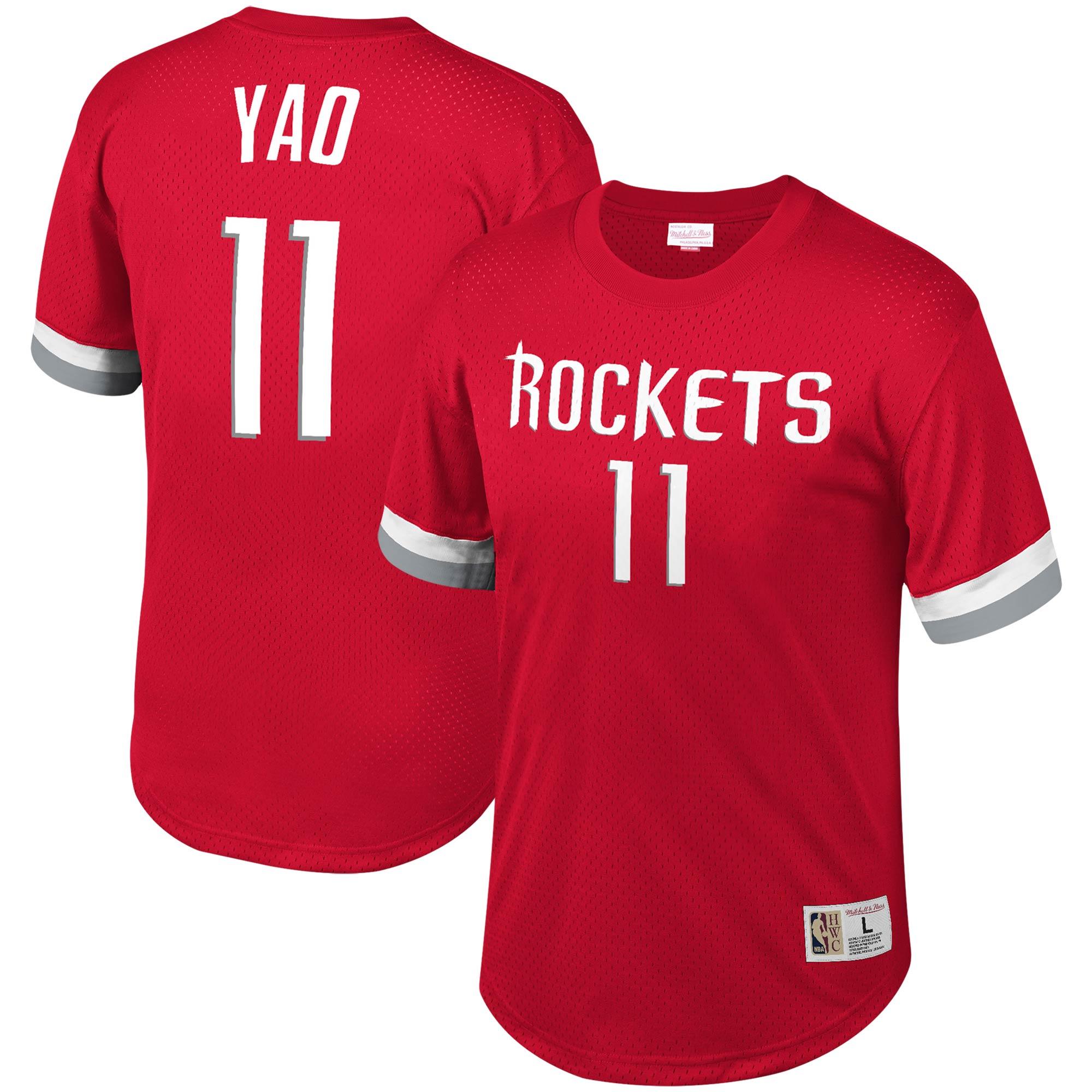 Yao Ming Houston Rockets Mitchell & Ness Mesh T-Shirt - Red