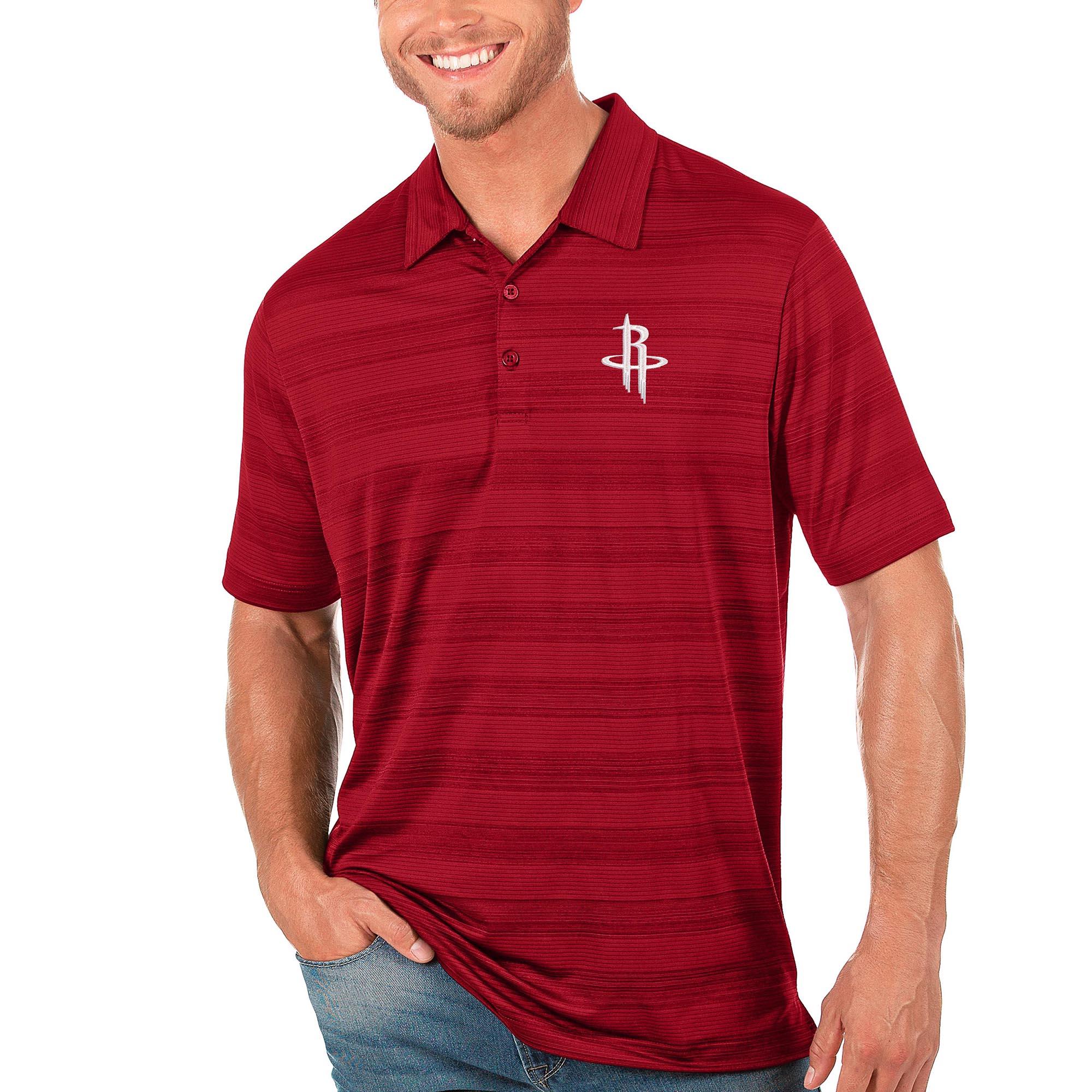 Houston Rockets Antigua Compass Polo - Red