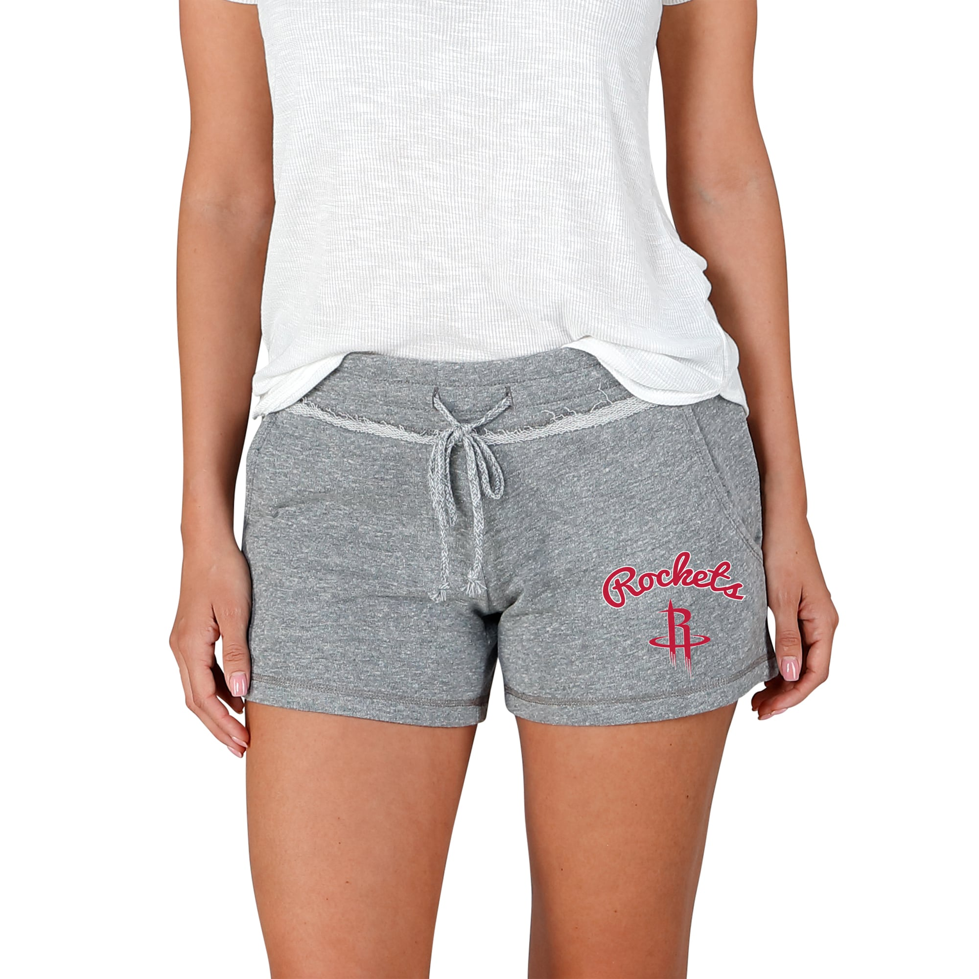 Houston Rockets Concepts Sport Women's Mainstream Terry Shorts - Gray
