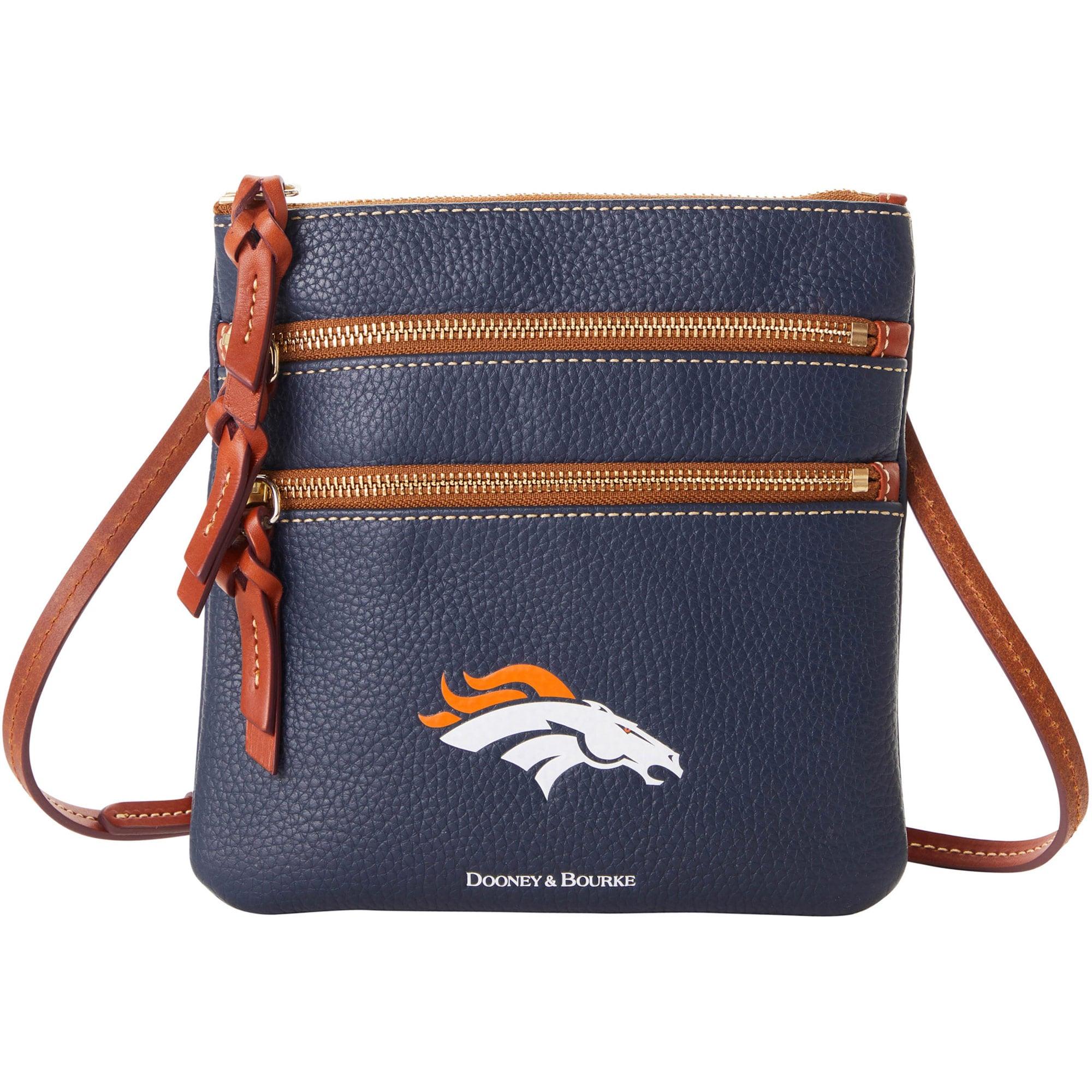 Denver Broncos Dooney & Bourke Women's Pebble Triple-Zip Core Crossbody Purse