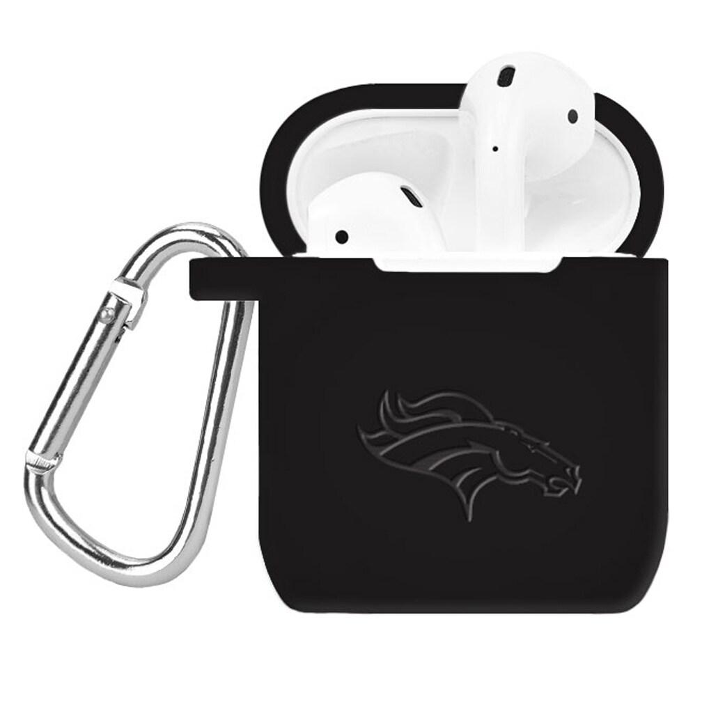 Denver Broncos Debossed Silicone Air Pods Case Cover - Black