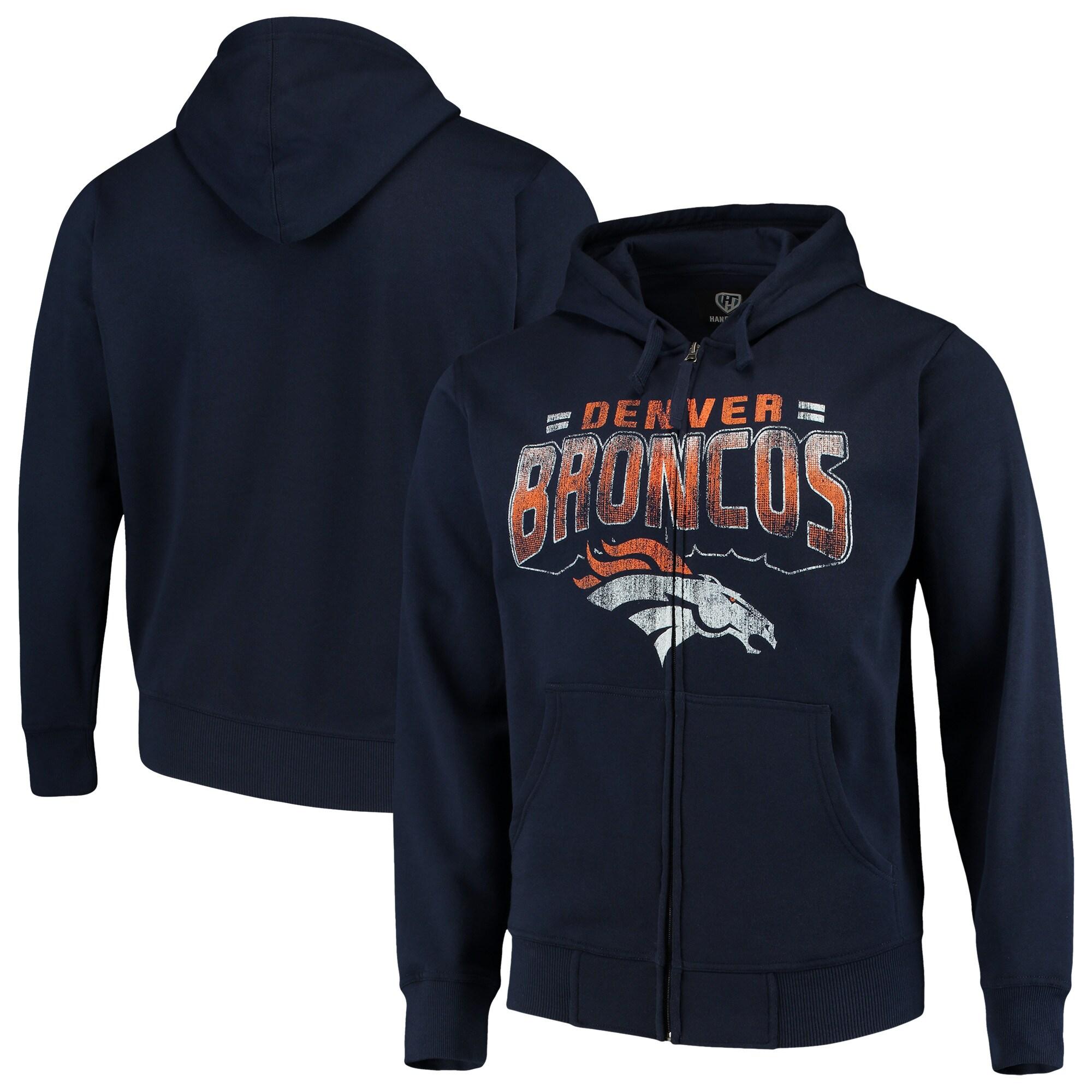 Denver Broncos G-III Sports by Carl Banks Perfect Season Full-Zip Hoodie - Navy