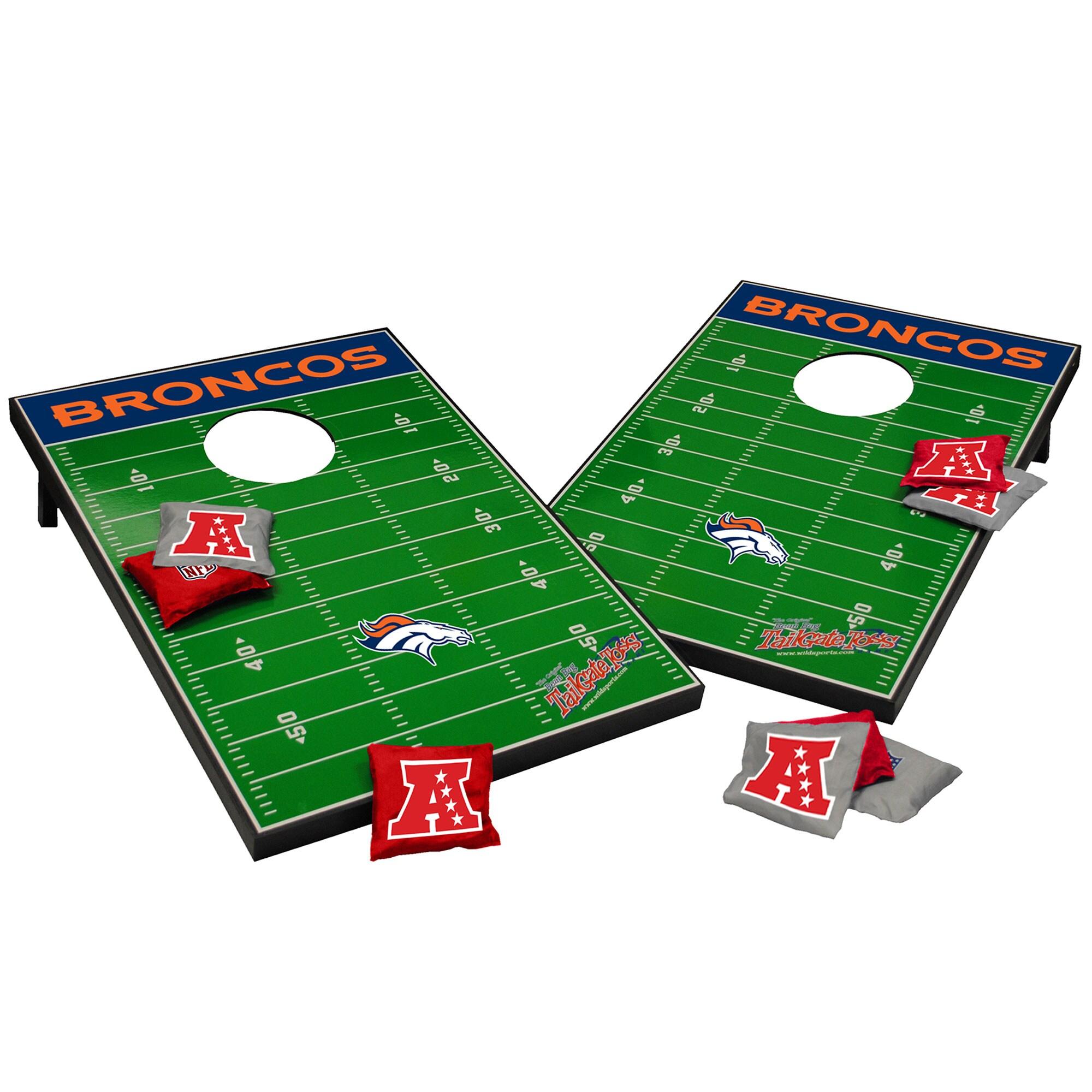 Denver Broncos 2' x 3' Cornhole Board Tailgate Toss Set