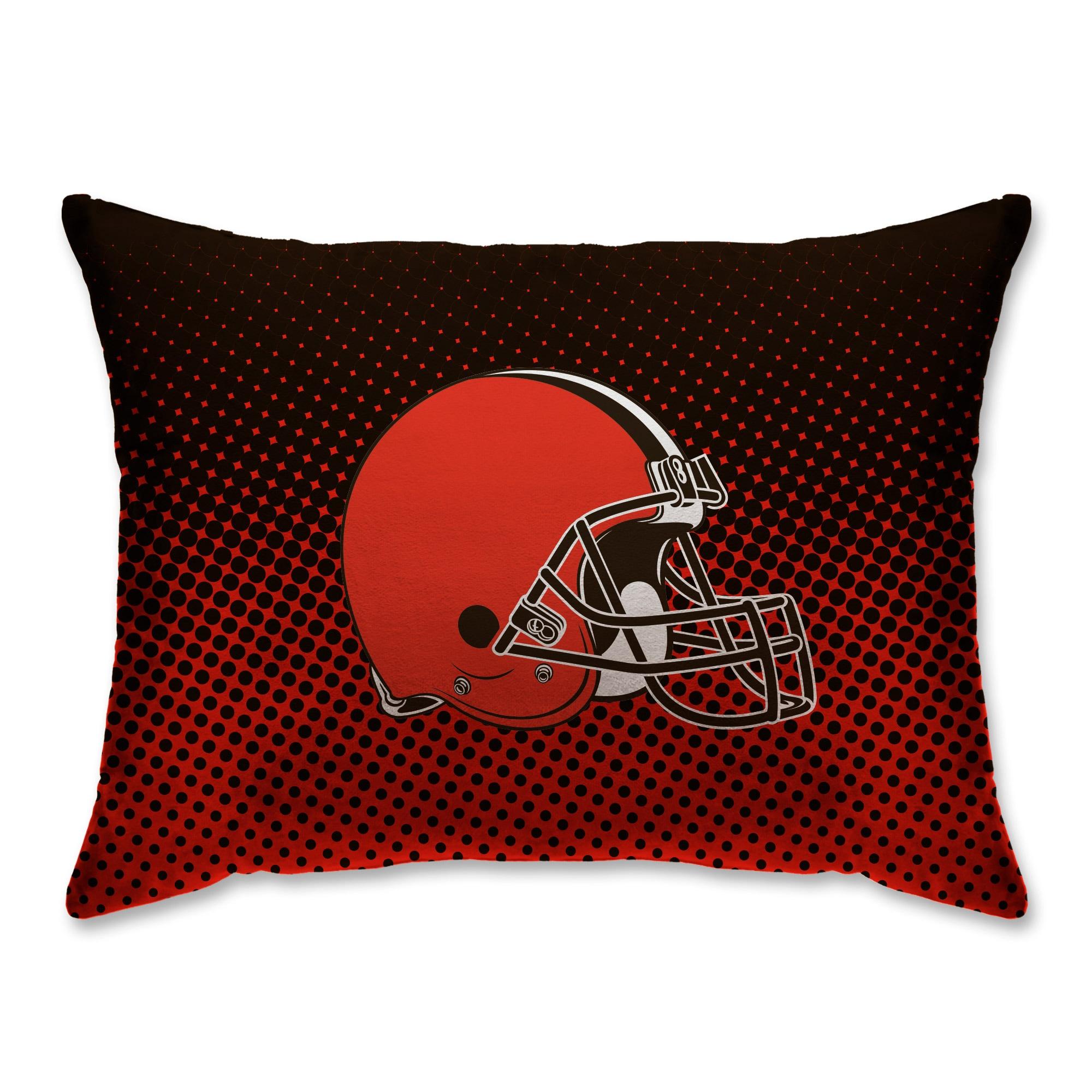 "Cleveland Browns 20"" x 26"" Dot Decorative Bed Pillow"