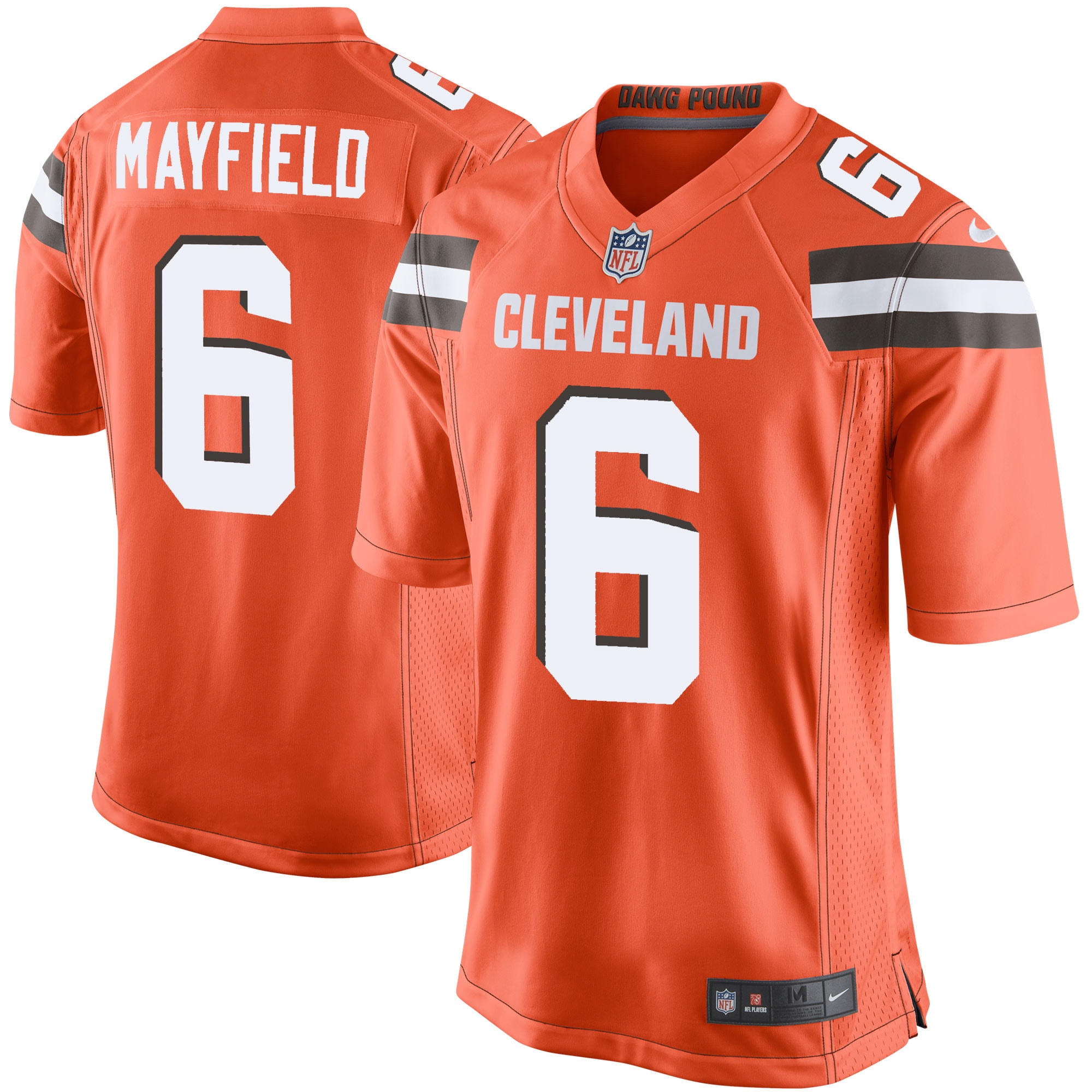 Baker Mayfield Cleveland Browns Nike Youth Player Game Jersey - Orange