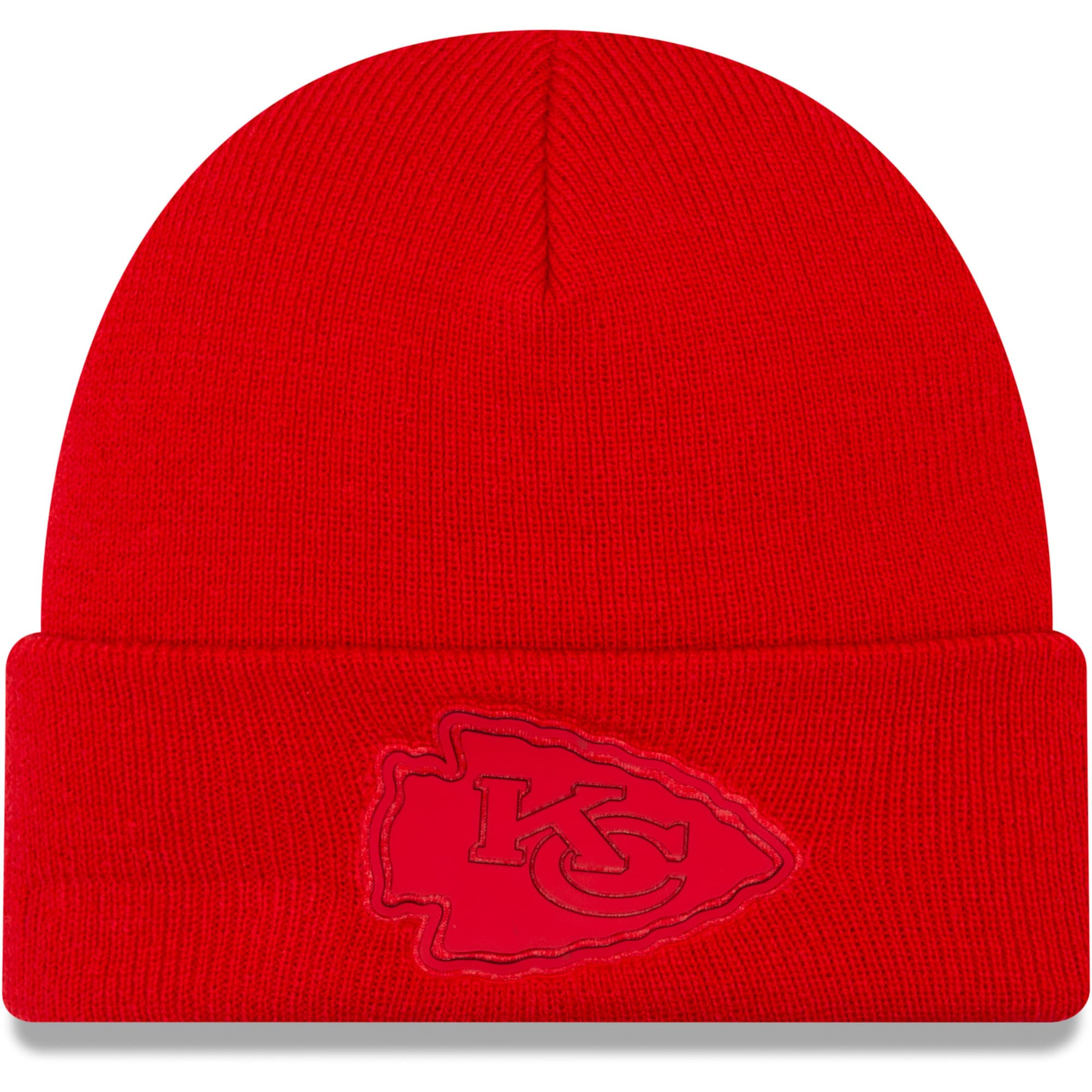 Kansas City Chiefs New Era Vivid Cuffed Knit Hat - Red